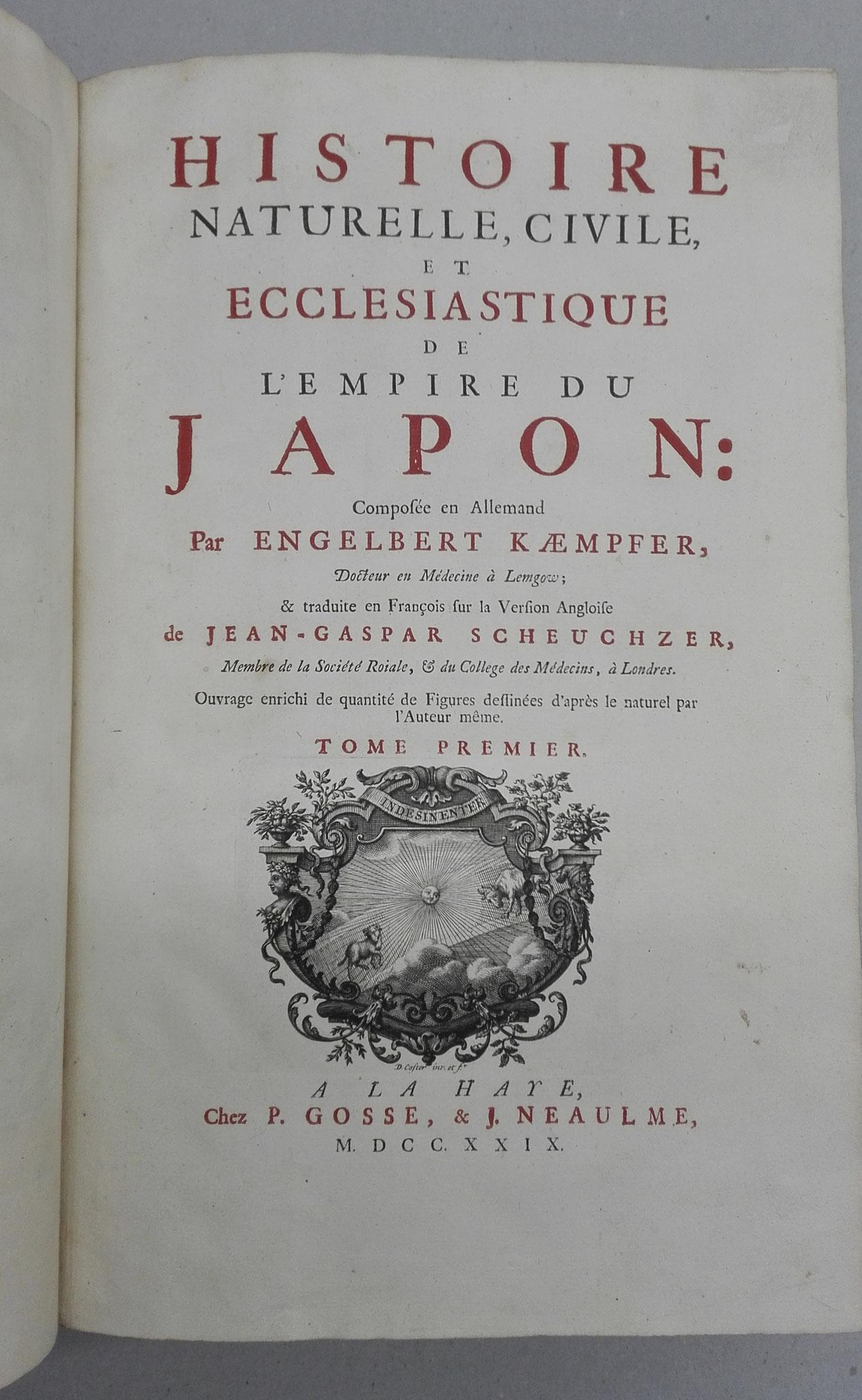 Restauration de livre 1729 et traitement du papier , Histoire du Japon