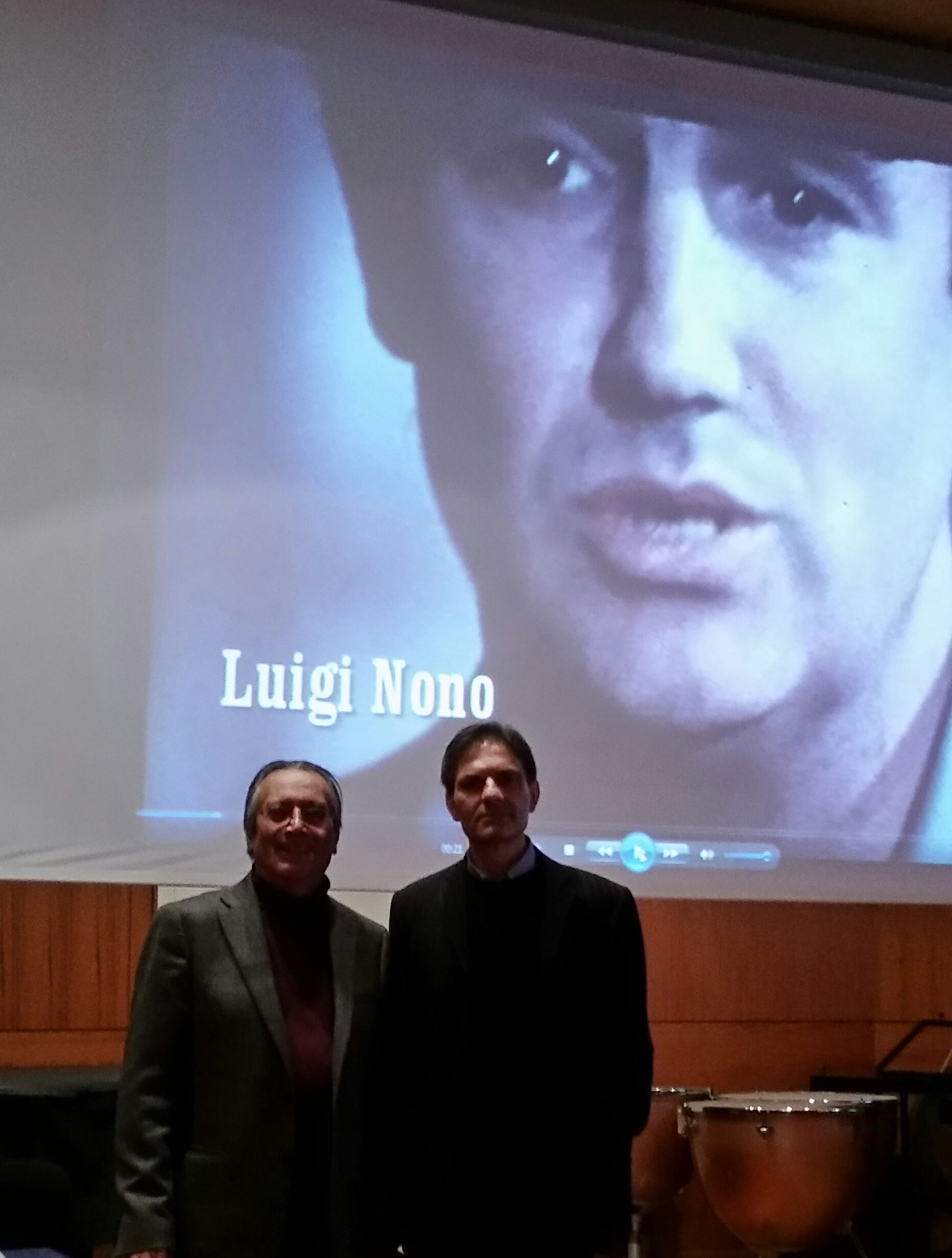 Seminario al Conservatorio di Verona (2015) e prima esecuzione di Kathakali con l'orchestra diretta da Andrea Mannucci