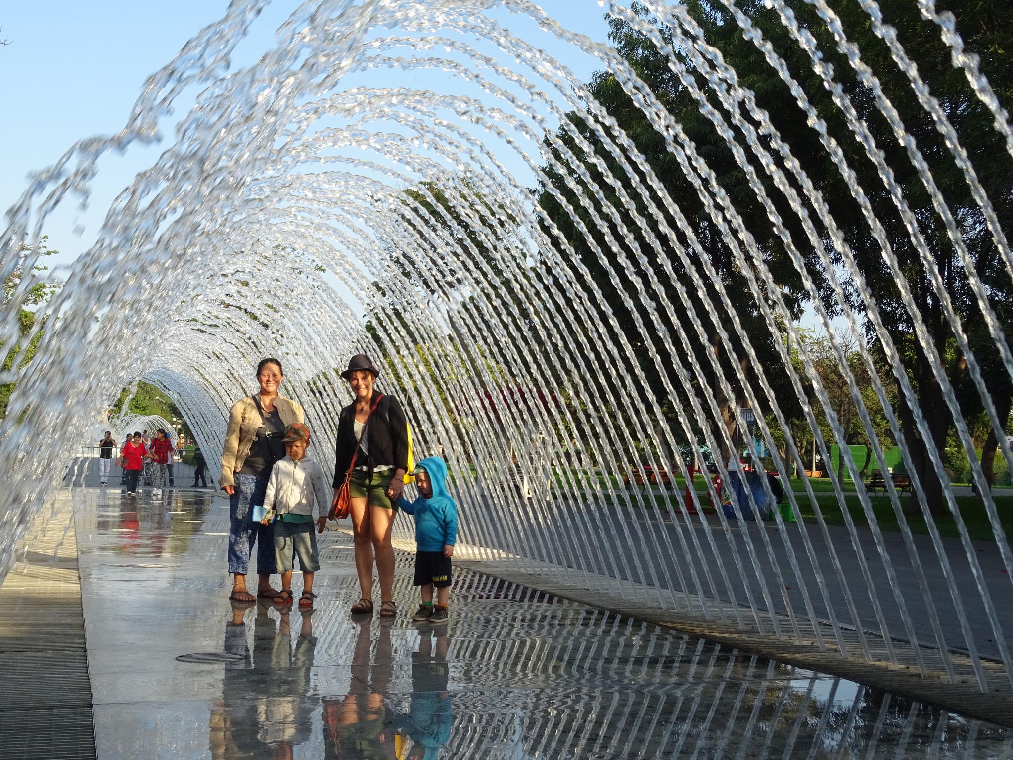 Parque des fontaines avec Michelle
