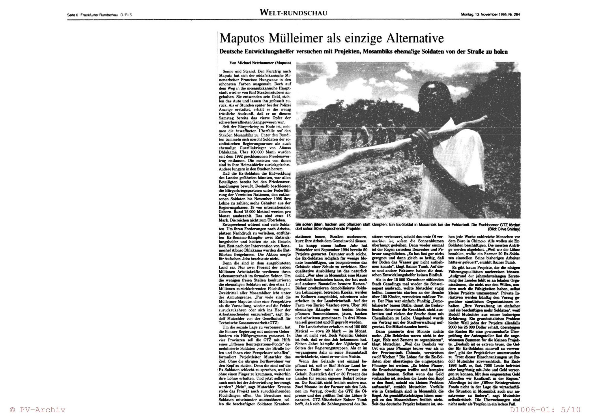 Frankfurter Rundschau 13.11.1995
