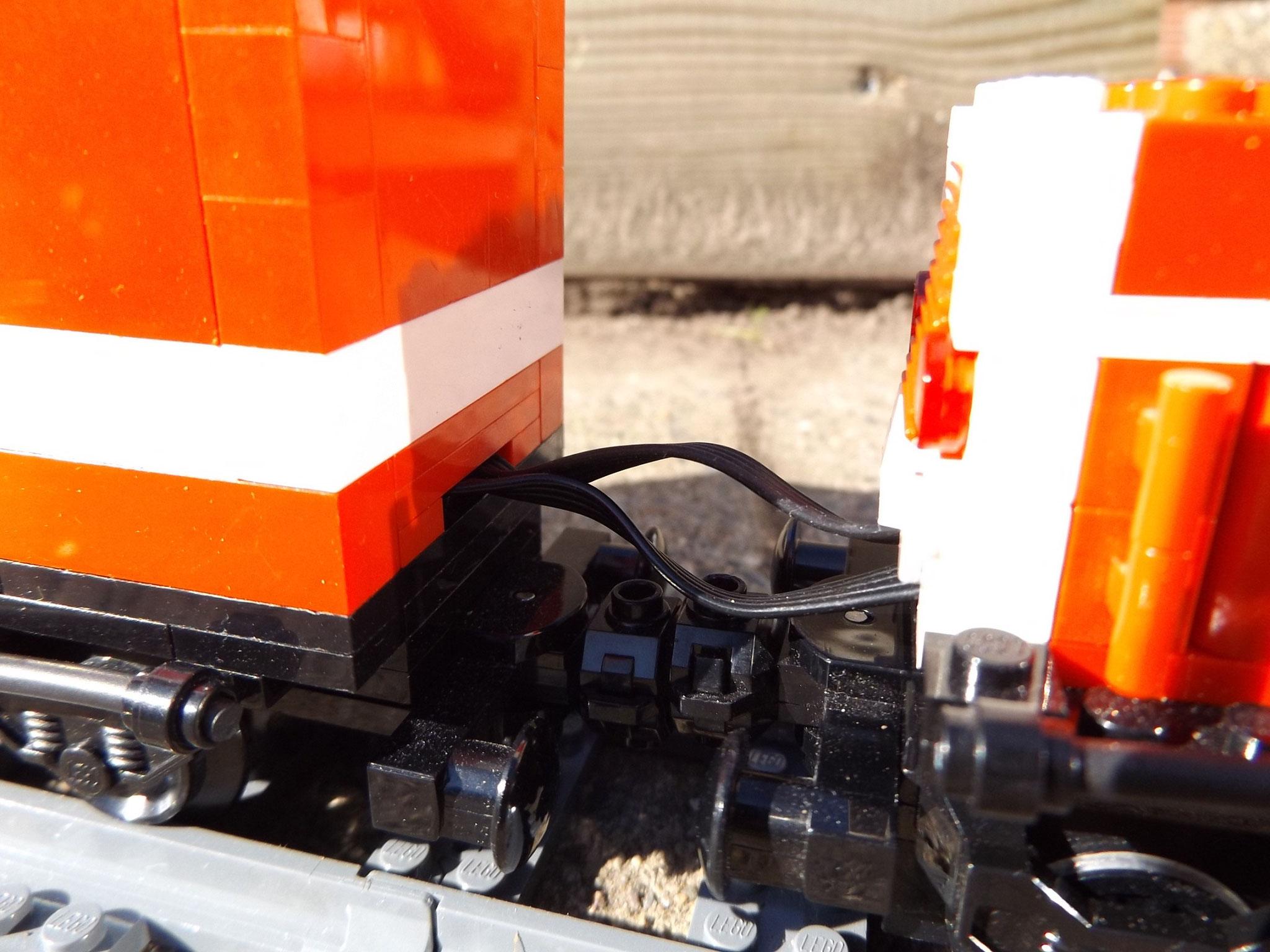 Kabelverbindung Gerätewagen Lok