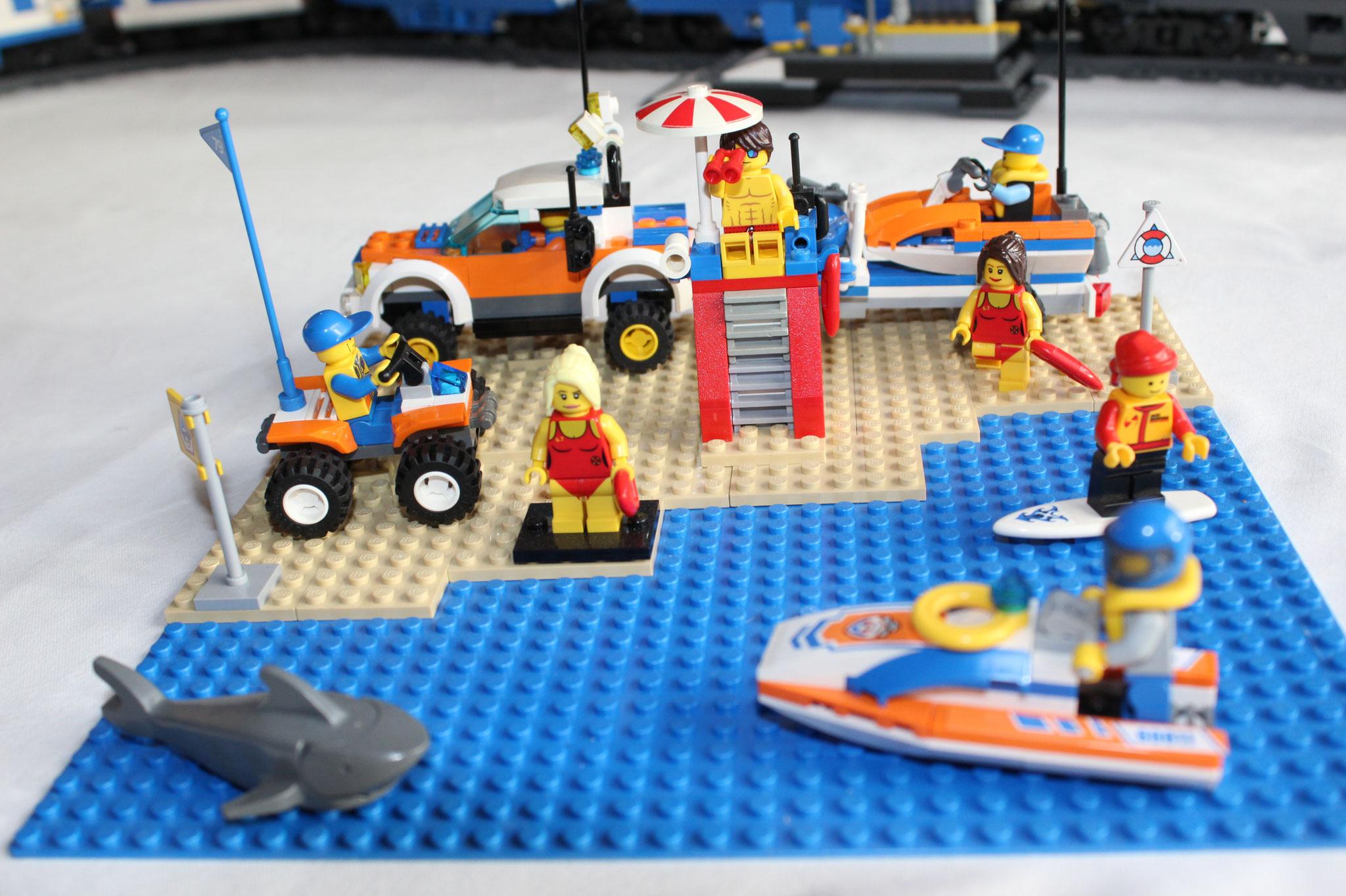 Wasser-Einsatz-Gruppe am Strand