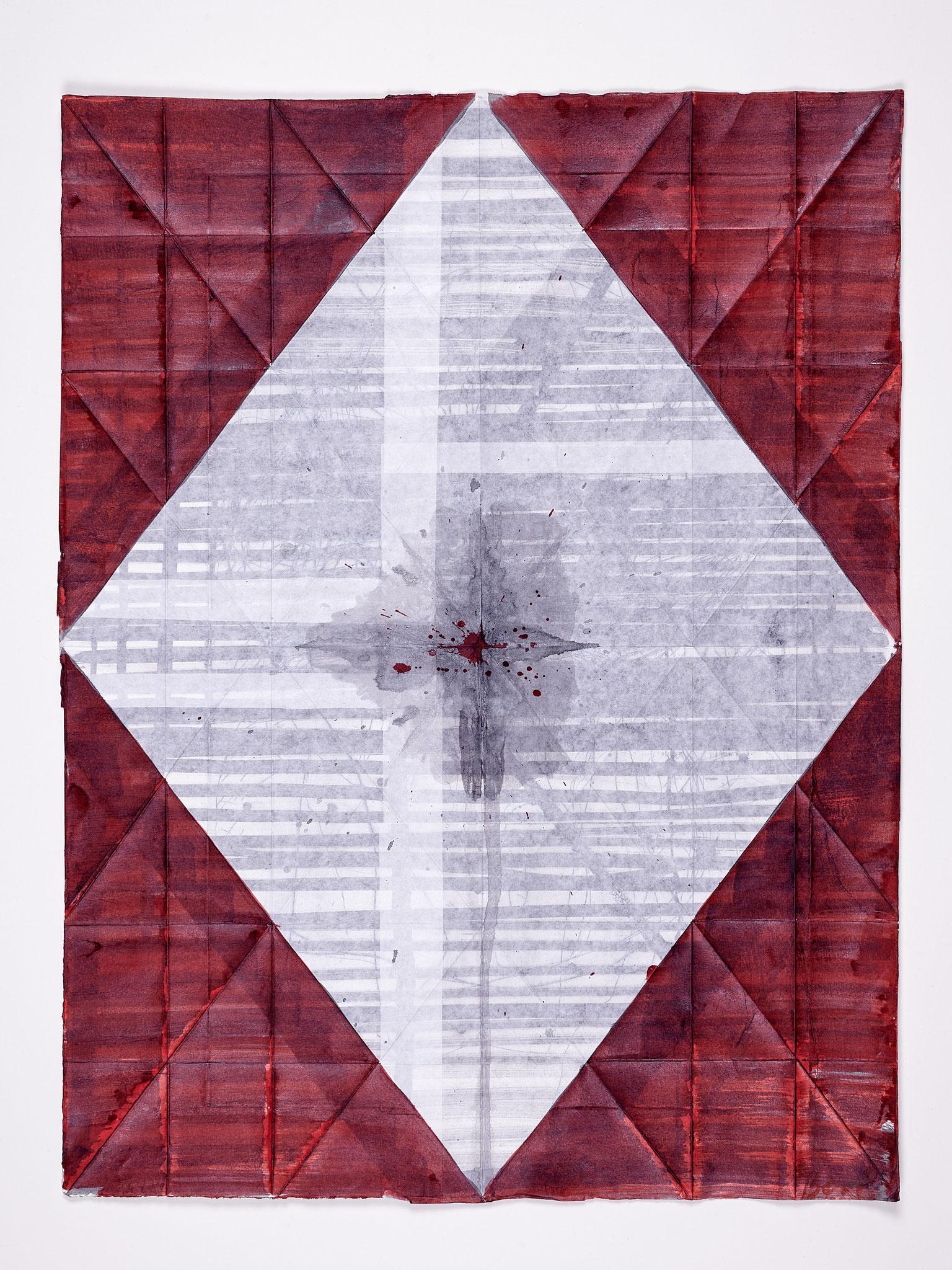 Kein Ort / Rose IV, 2018, 69 x 53 cm