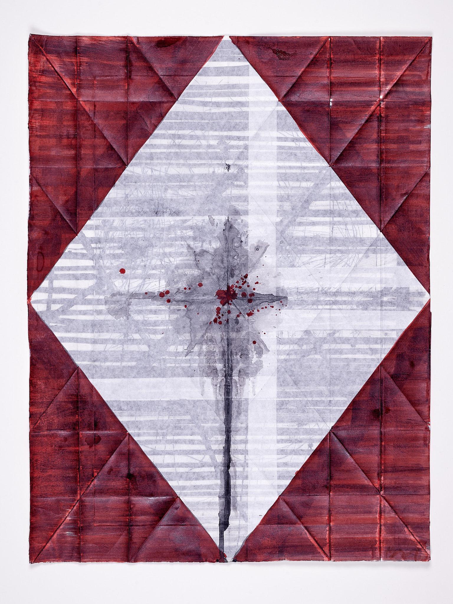 Kein Ort / Rose V, , 2018, 69 x 53 cm