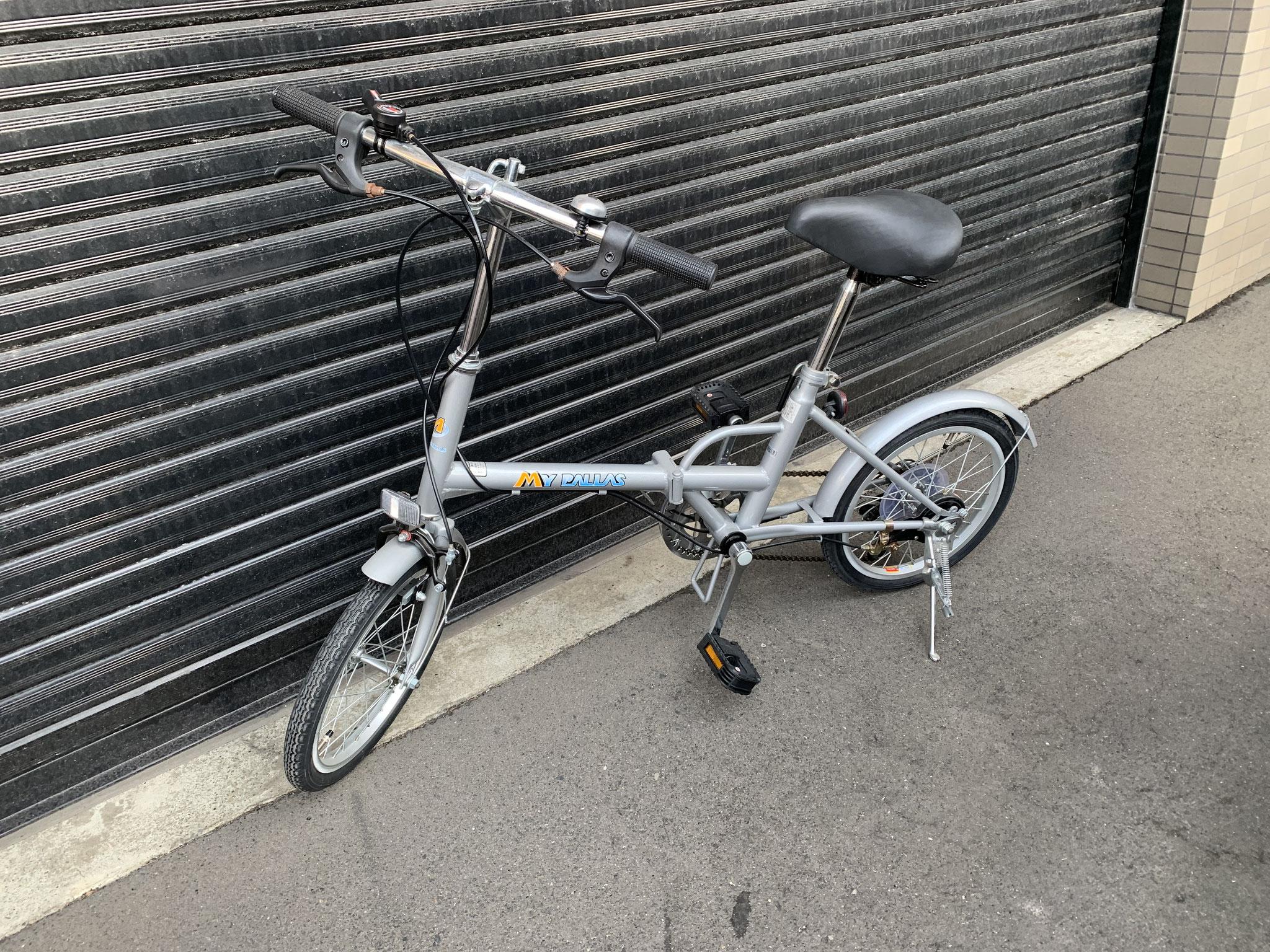 札幌 16インチ折り畳み自転車 買取価格1500円