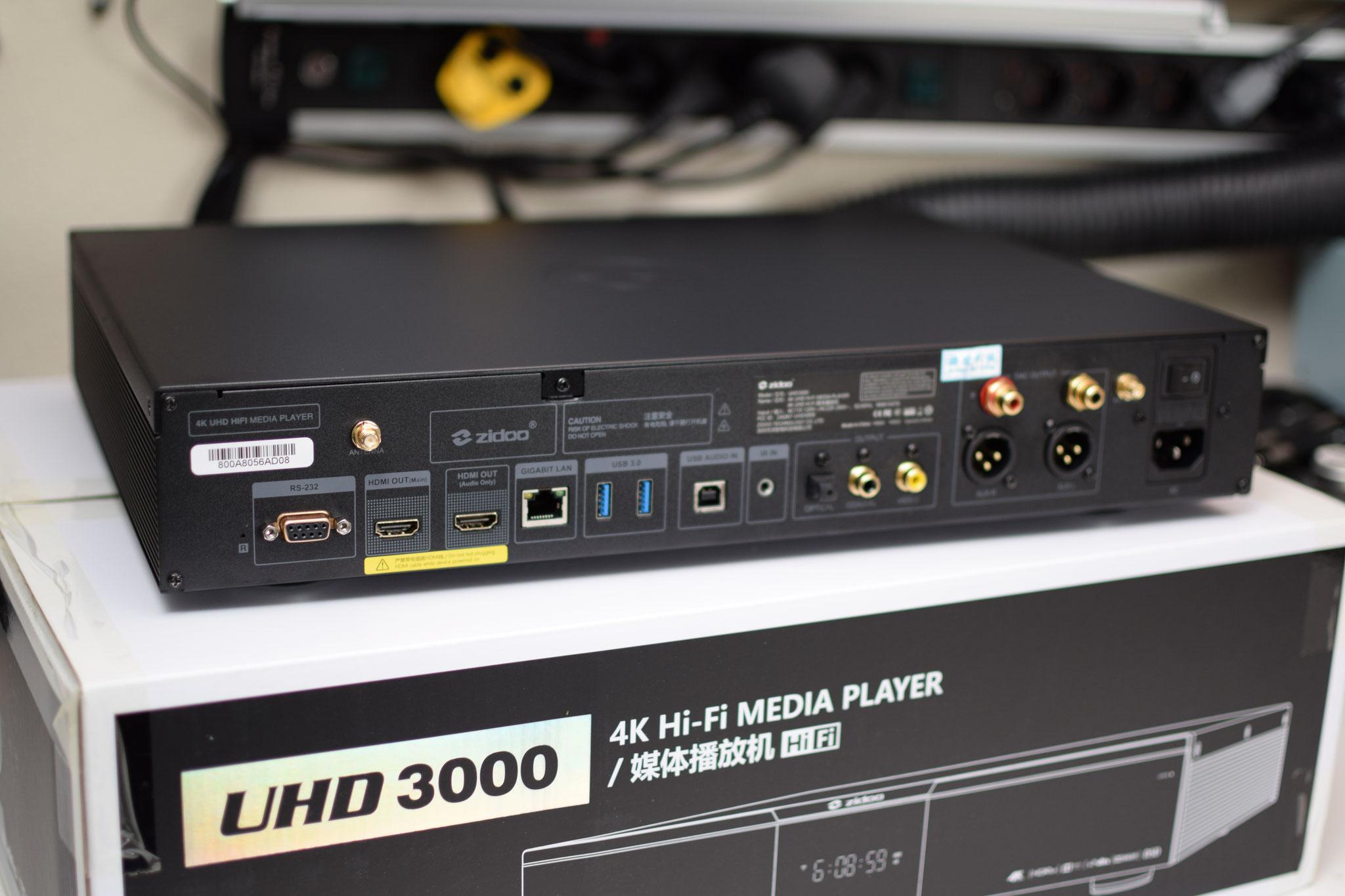 Zidoo UHD 3000 Rückseite