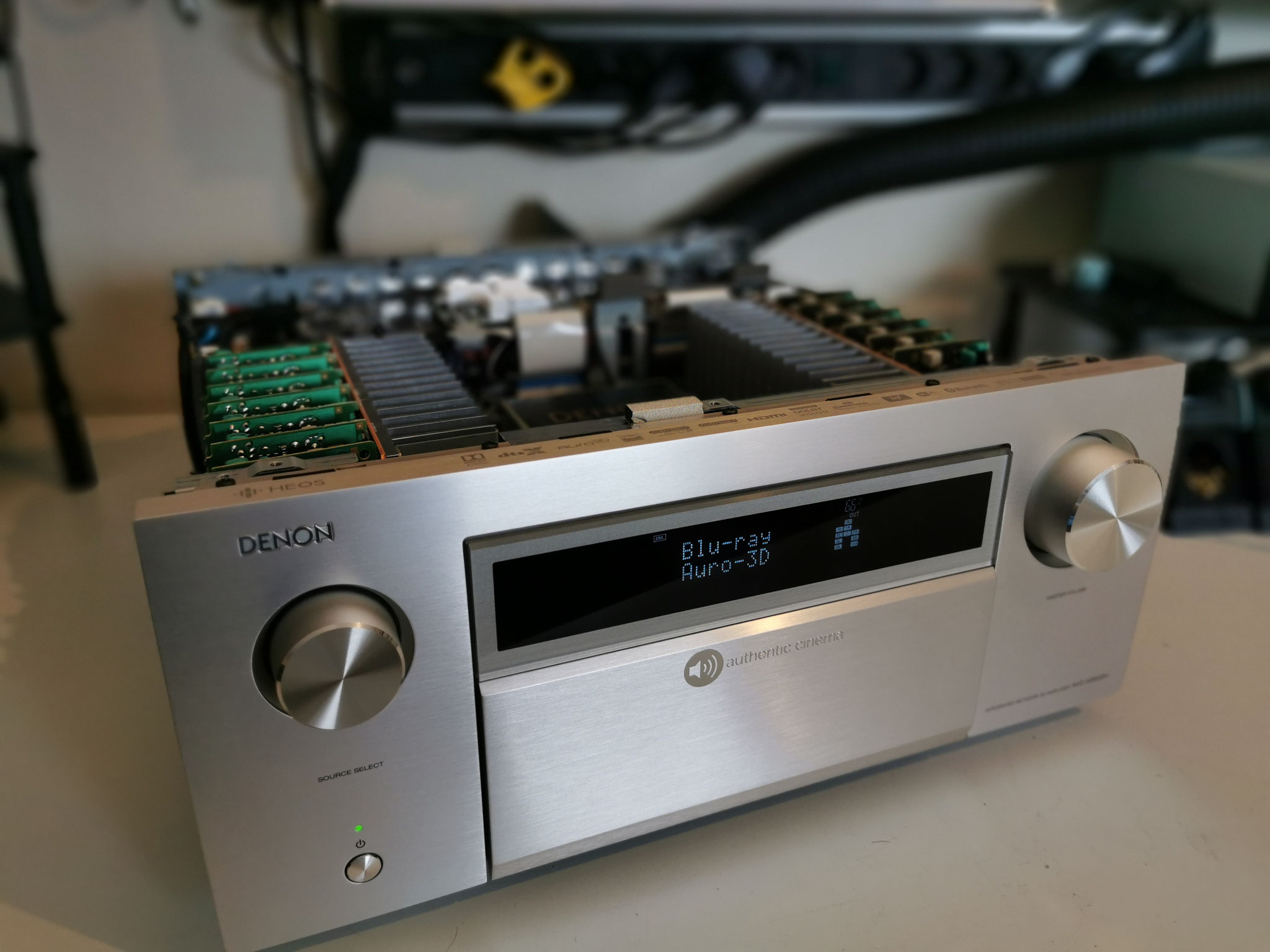 Denon AVC-X8500H authentic cinema removed top cover