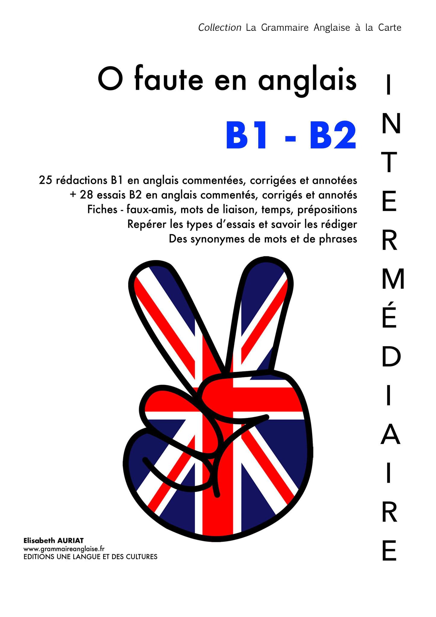 Livre Zéro faute en anglais B1/B2 INTERMEDIAIRE
