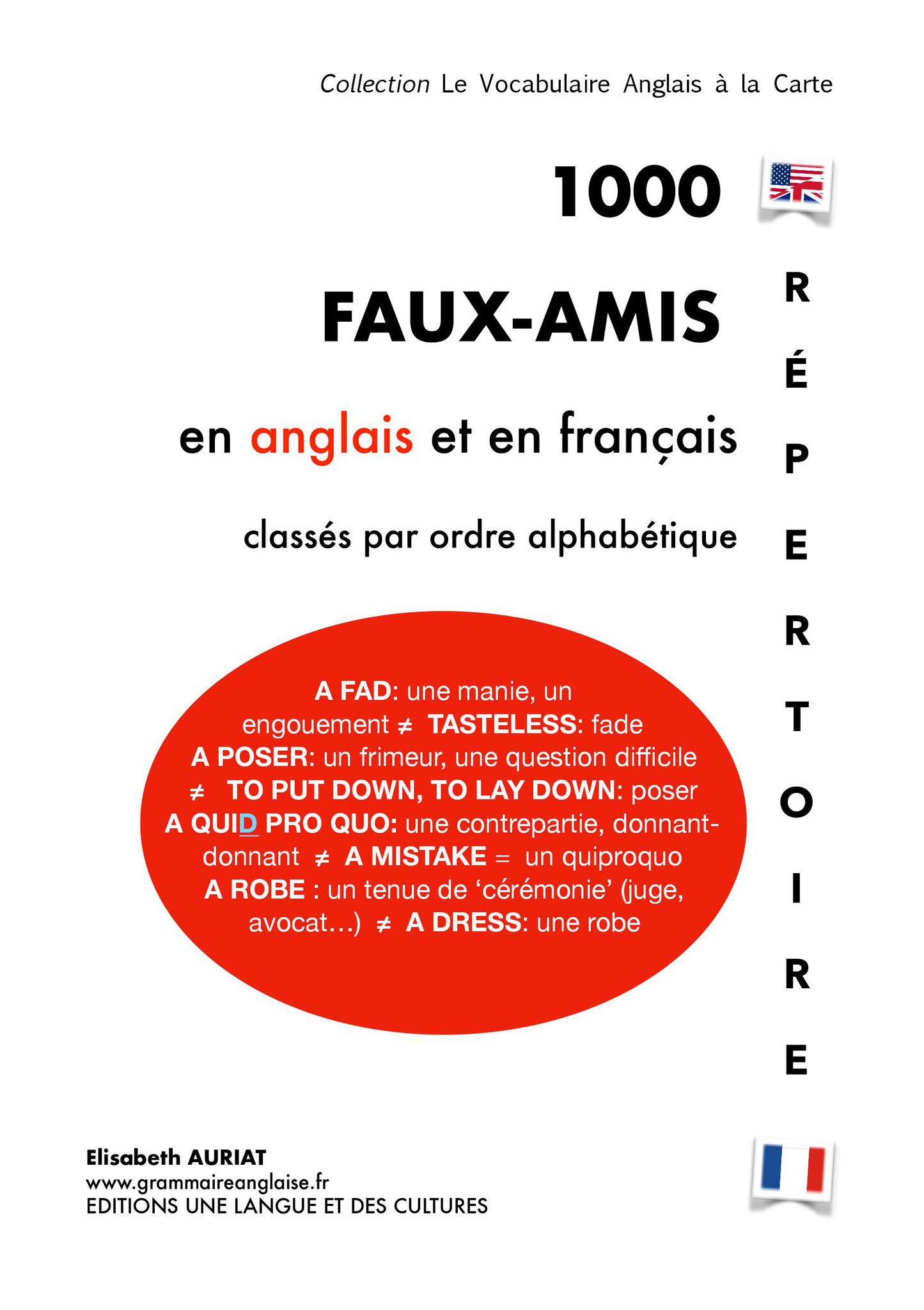 Répertoire de 1000 faux-amis en anglais et en français