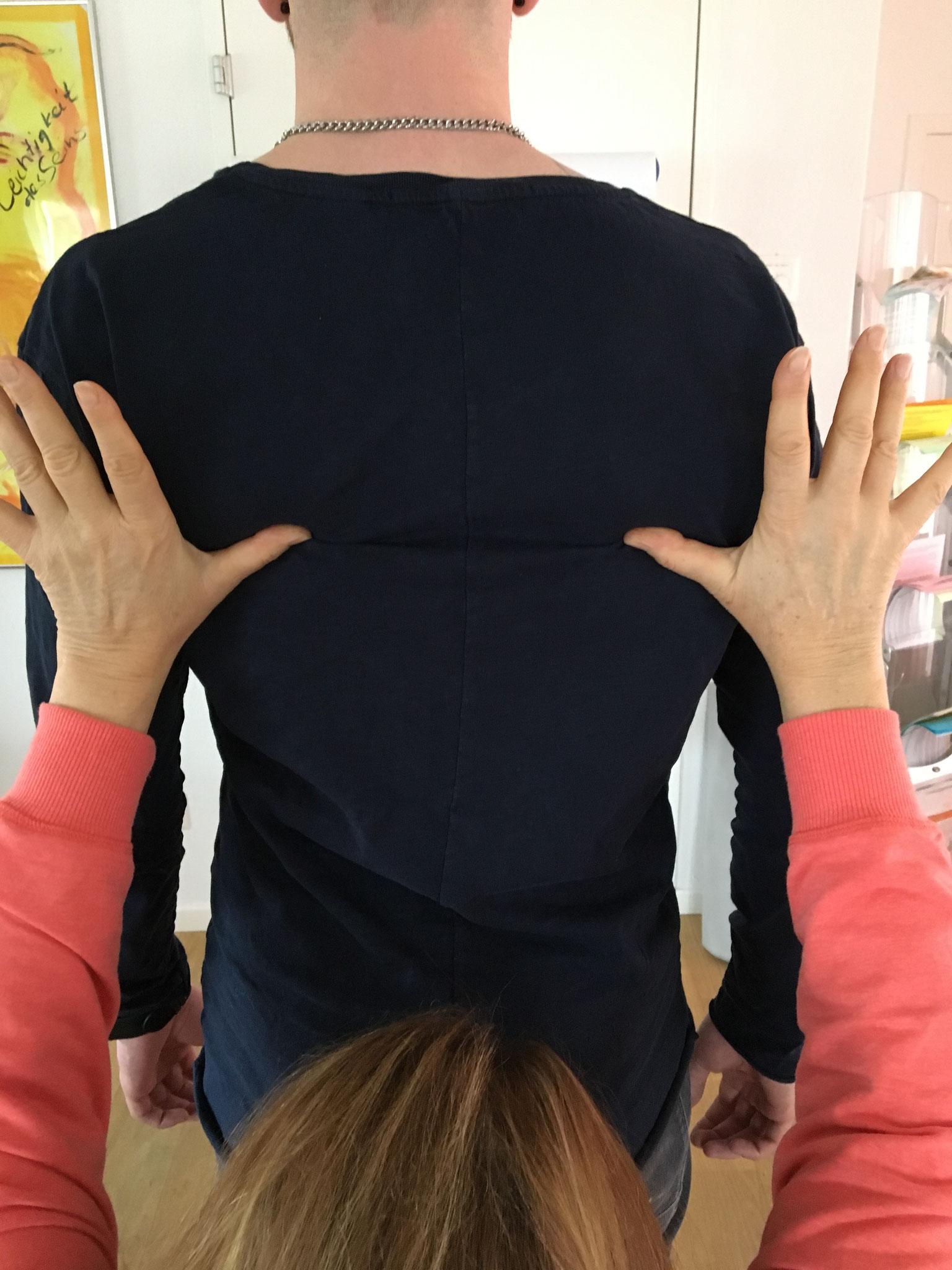 nachher Schulterebene
