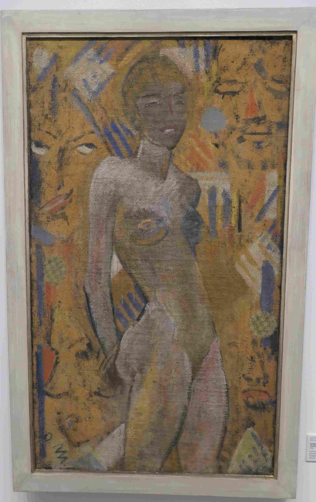 Otto Mueller, Junges Mädchen vor Männerköpfen, 1927, Nationalgalerie Berlin