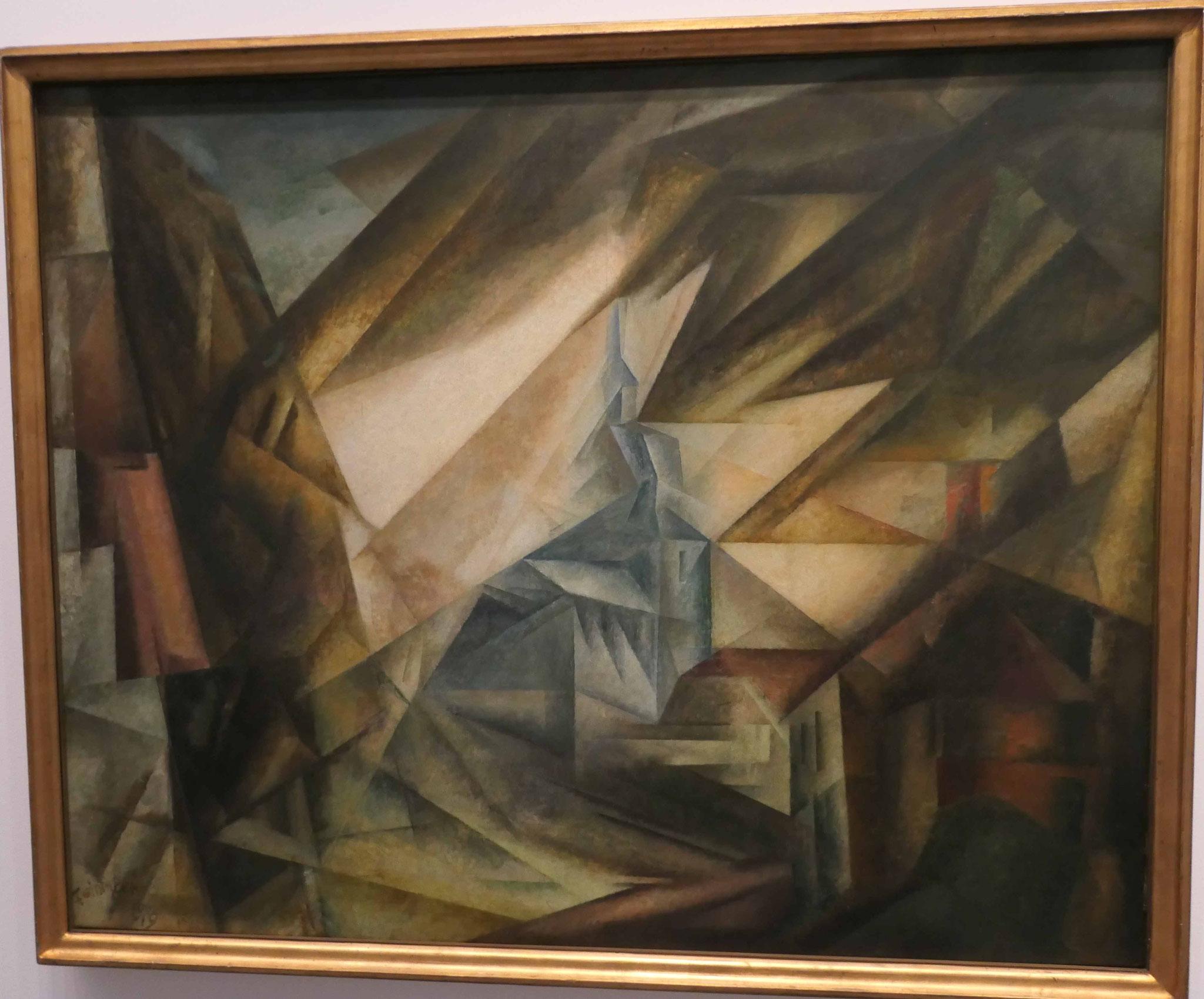 Lyonel Feininger, Kirche von Niedergrunstedt, 1919, Neue Nationalgalerie Berlin
