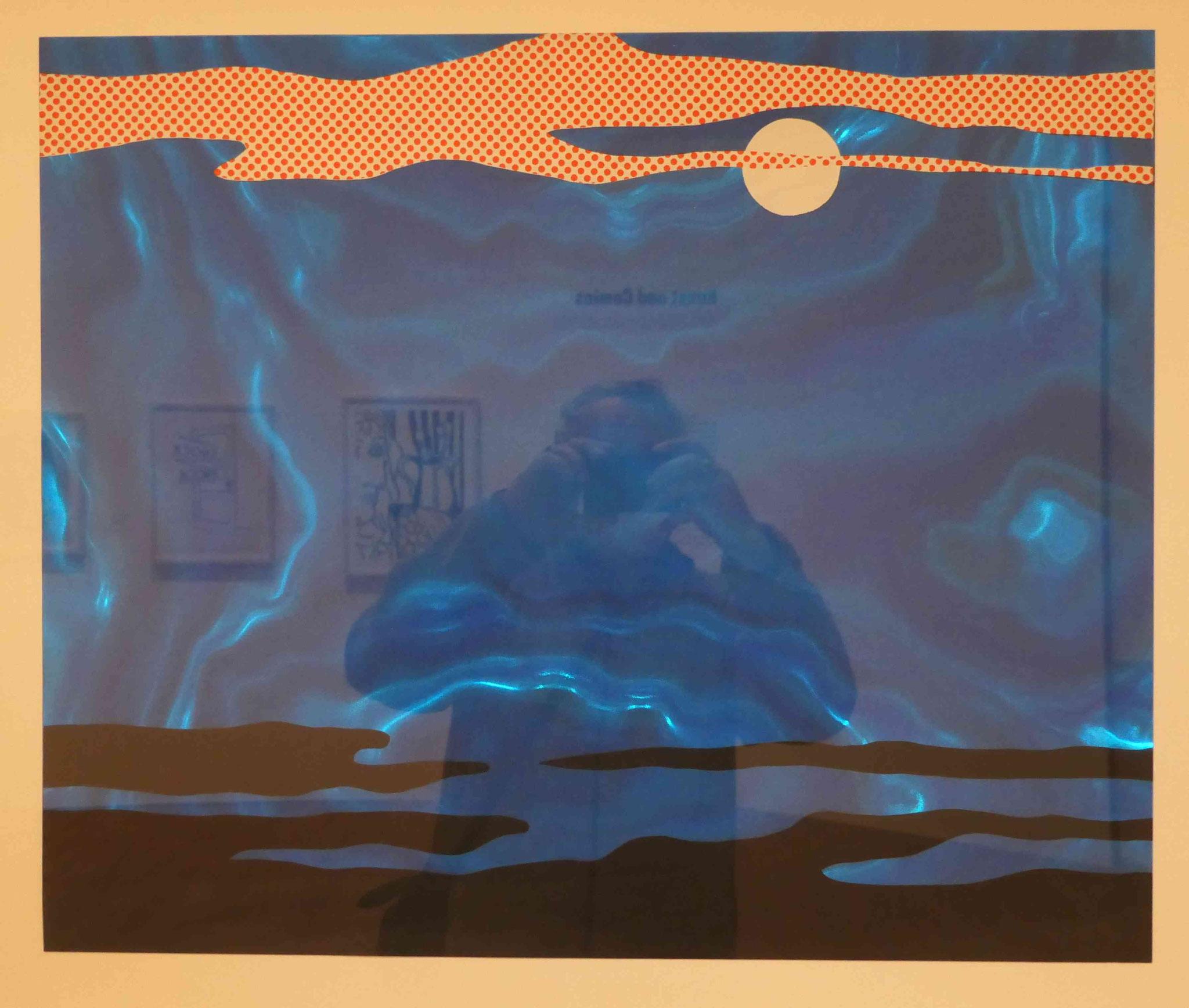 Roy Lichtenstein, Moonscape, Siebdruck auf Rowluxfolie, 1965/66, Nationalgalerie Berlin