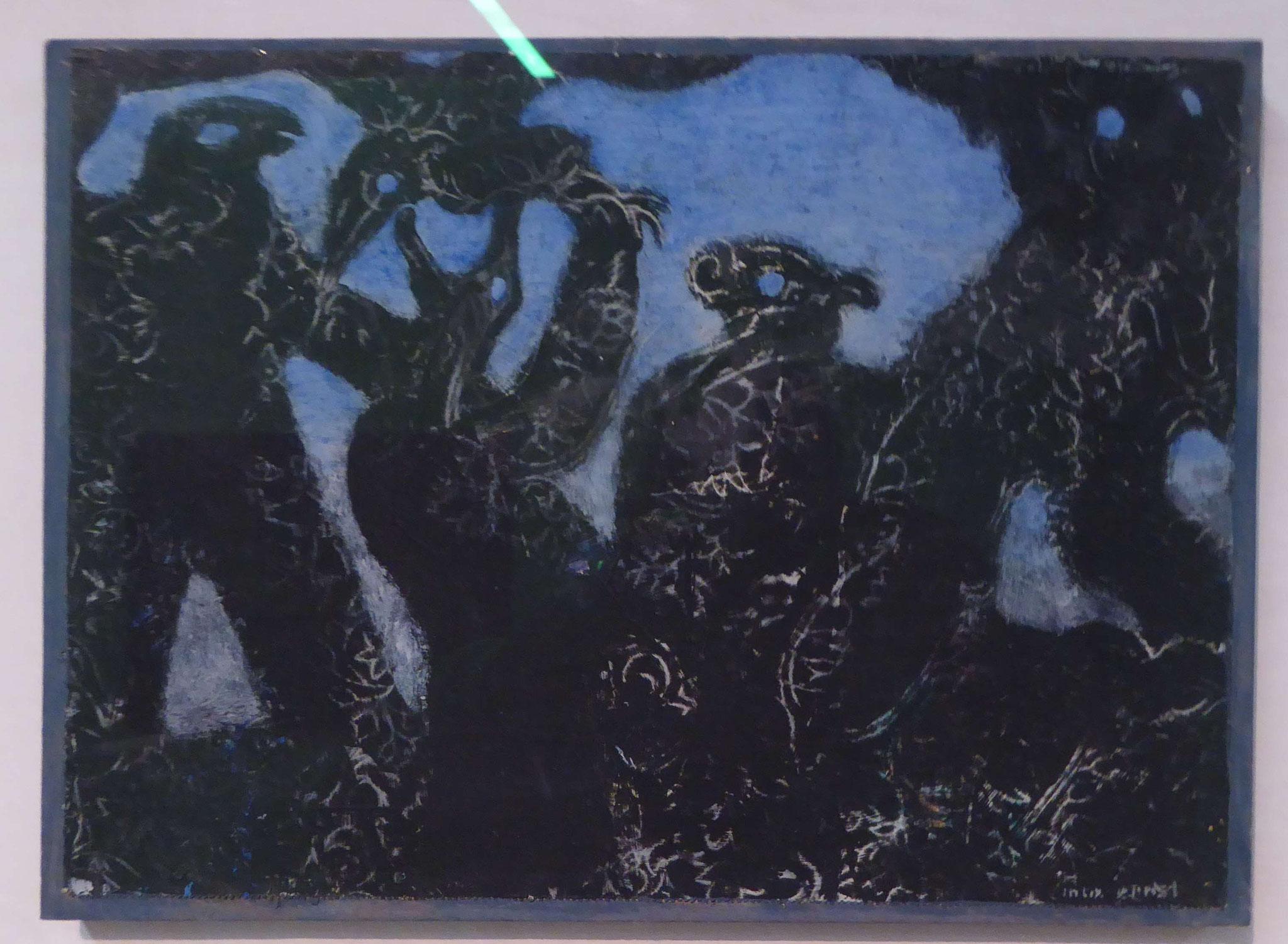 Max Ernst, Kampf zweier Bischöfe, 1930, Museum Moritzburg, Halle