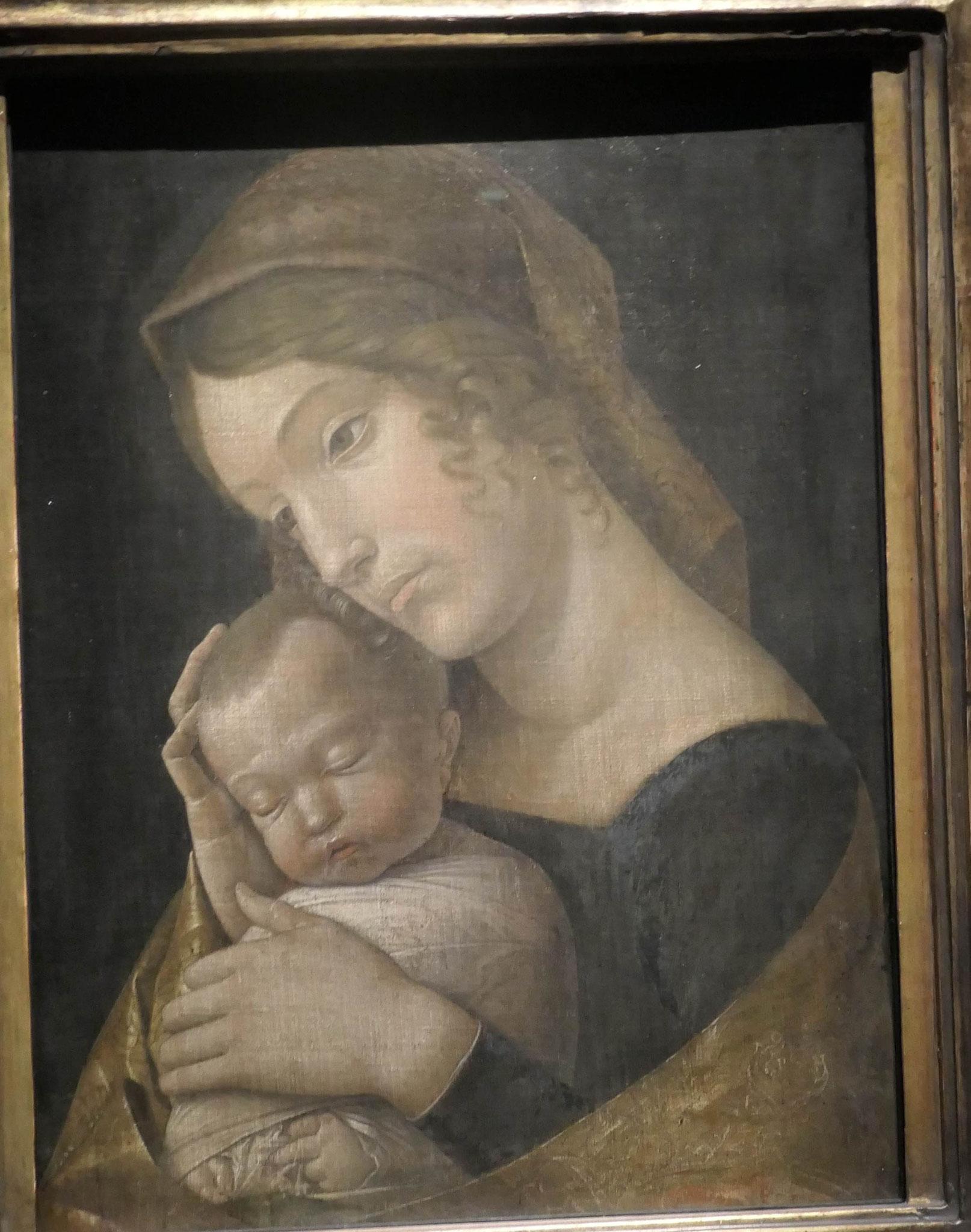 Andrea Mantegna, Maria mit dem schlafenden Kind (Simon-Madonna), um 1455/60