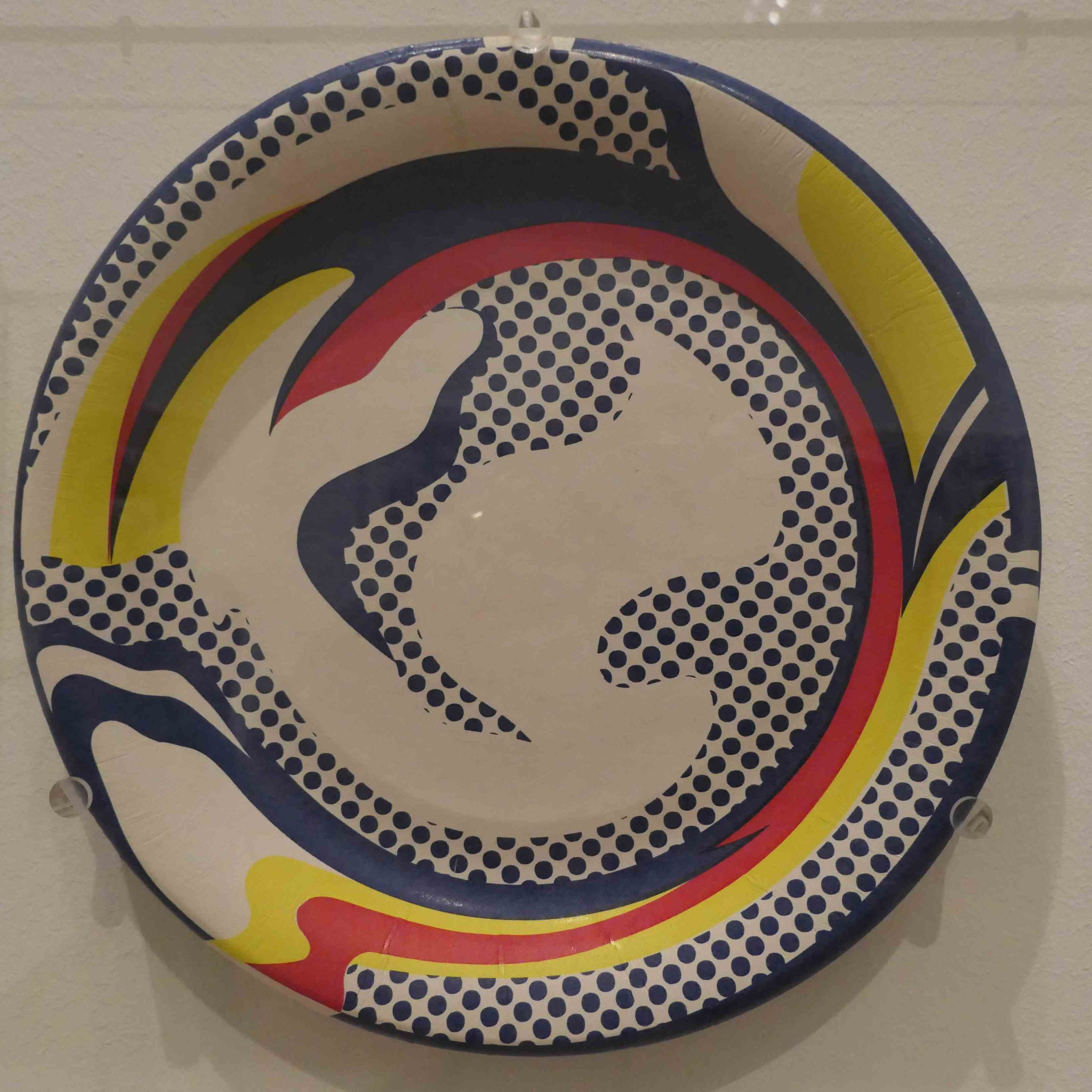 Roy Lichtenstein, Teller, Siebdruck auf Pappe, 1969, Nationalgalerie Berlin