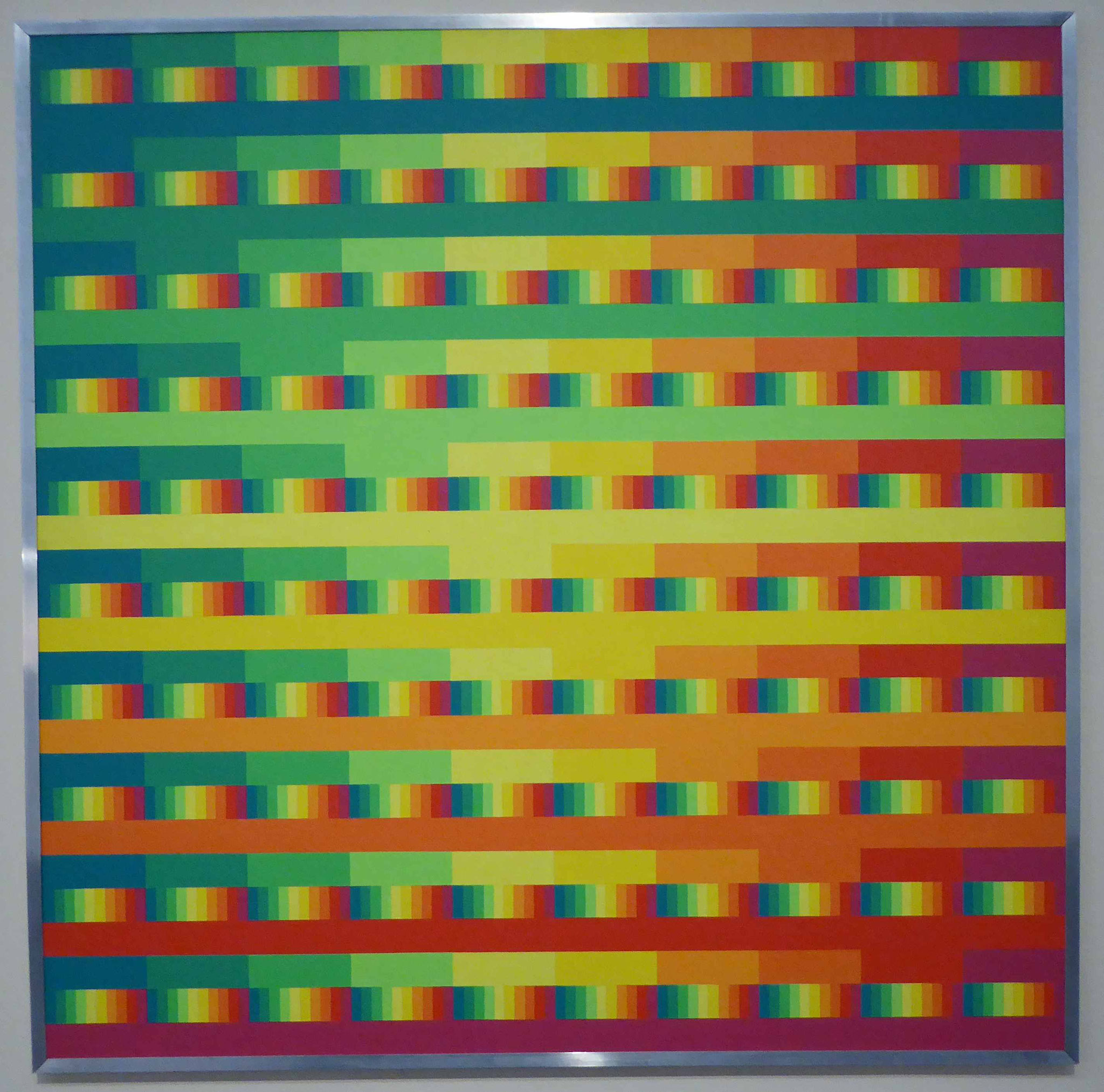 Hans Bartnig,  Komposition in zehn Farben  000 - 999, 1979, Museum Moritzburg, Halle