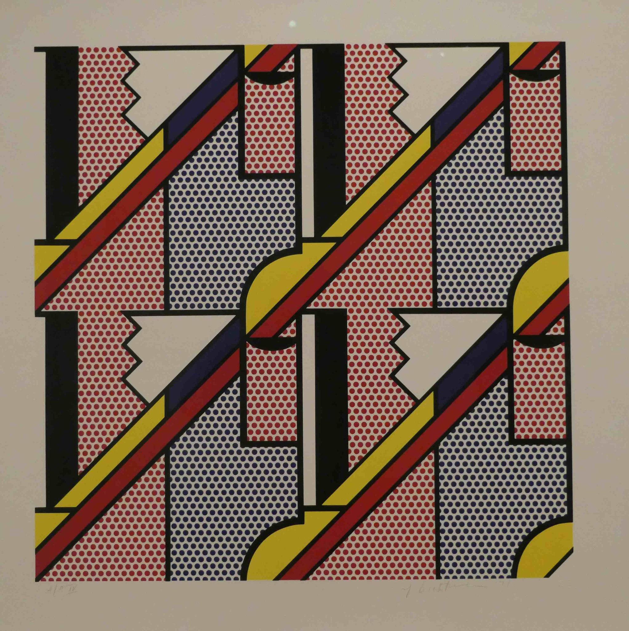 Roy Lichtenstein, Modern Print, Lithograpie und Siebdruck, 1971, Nationalgalerie Berlin