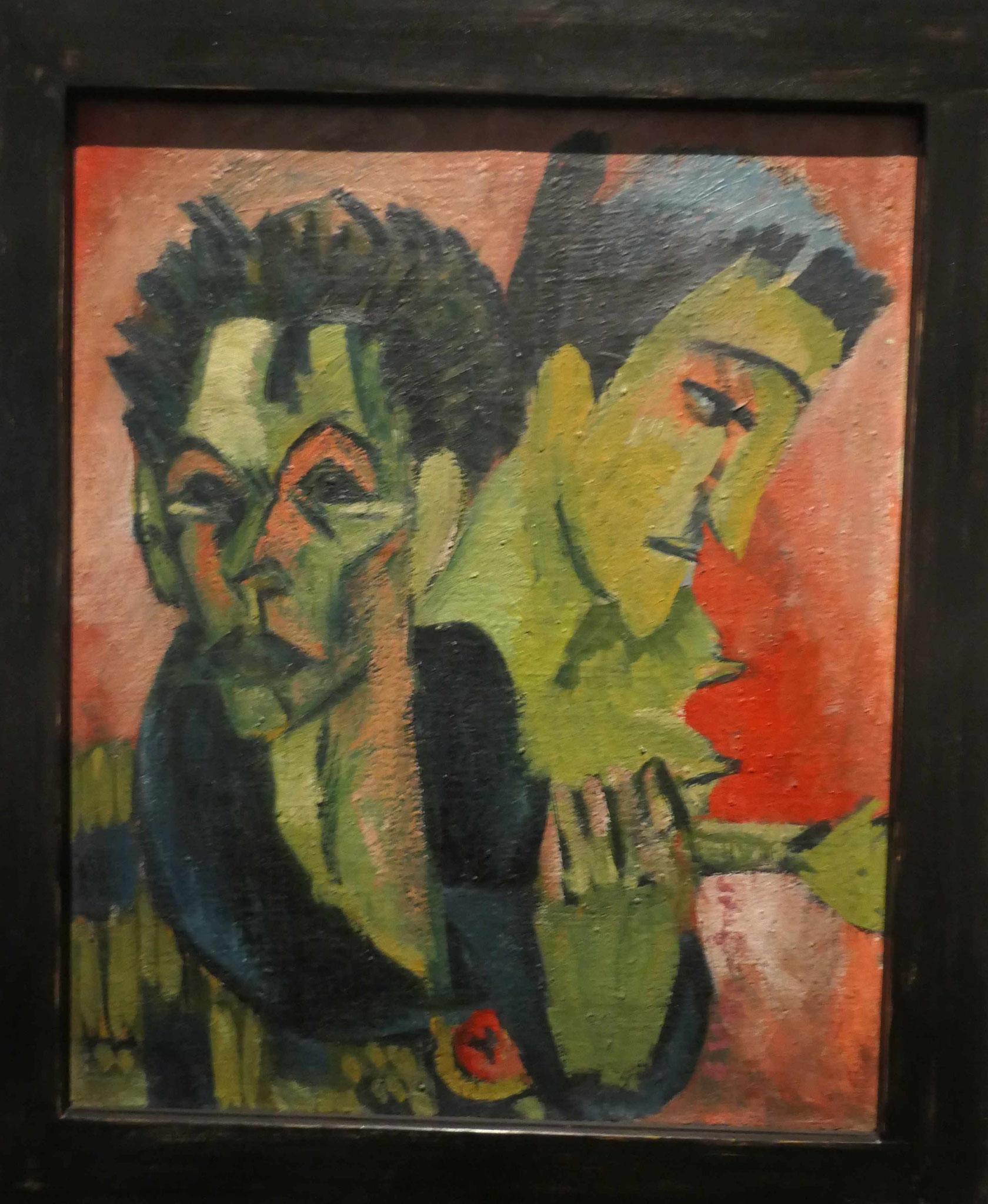 Ernst Ludwig Kirchner, Selbstbildnis mit Mäadchen, 1914/15, Neue Nationalgalerie Berlin