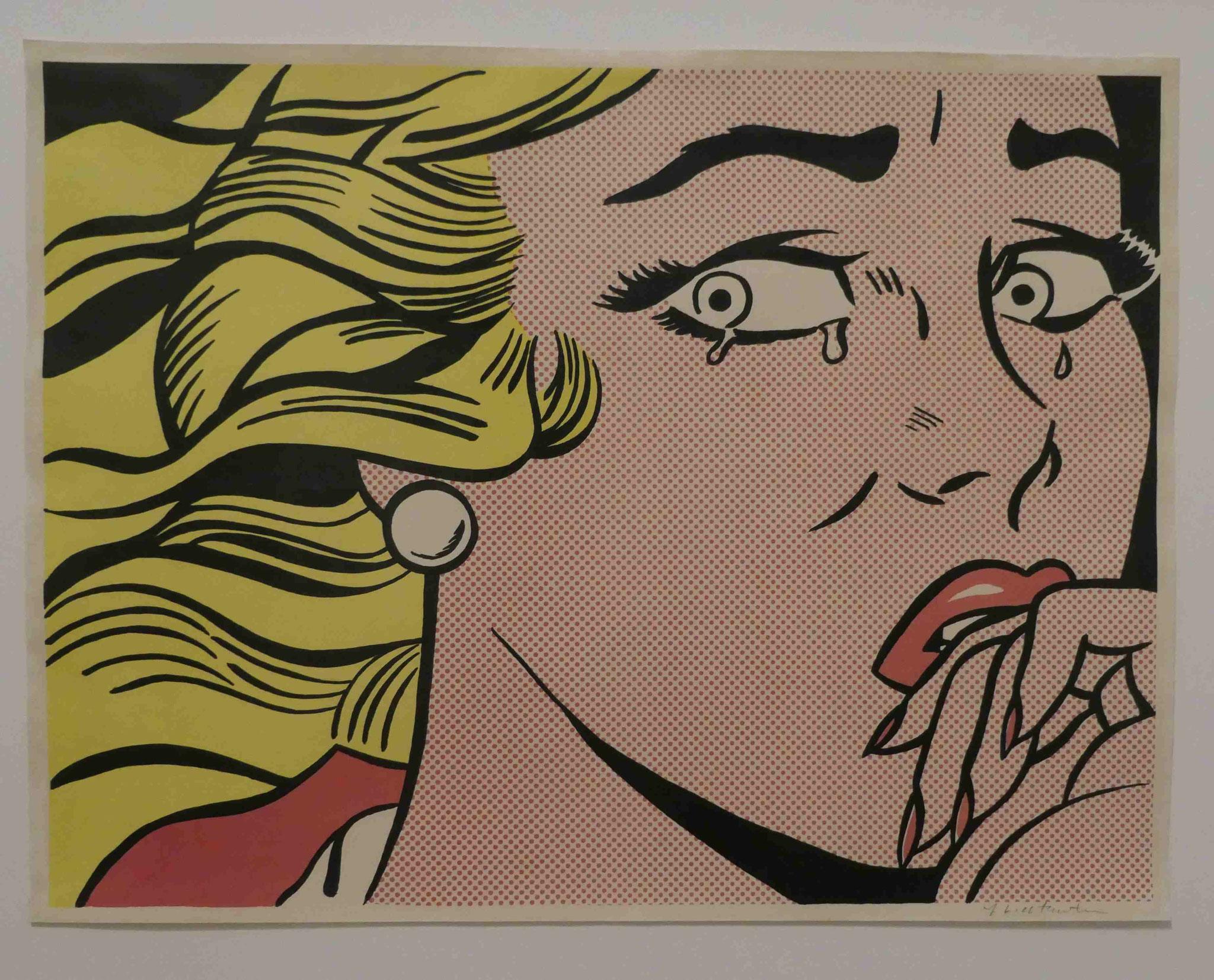 Roy Lichtenstein, Crying Girl, Offsetlithographie, 1963, Nationalgalerie Berlin