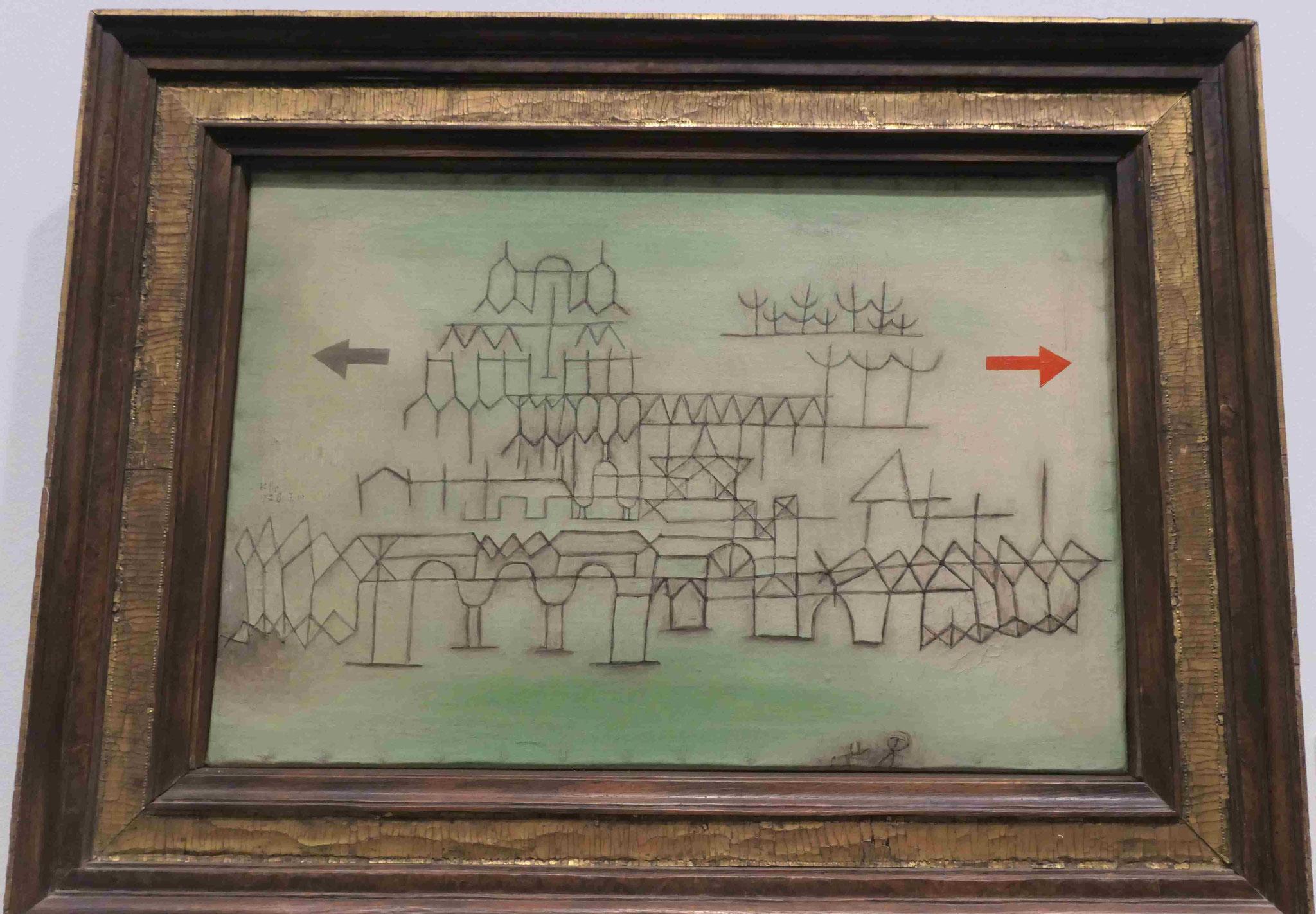 Paul Klee, Palast im Vorübergehn, 1928