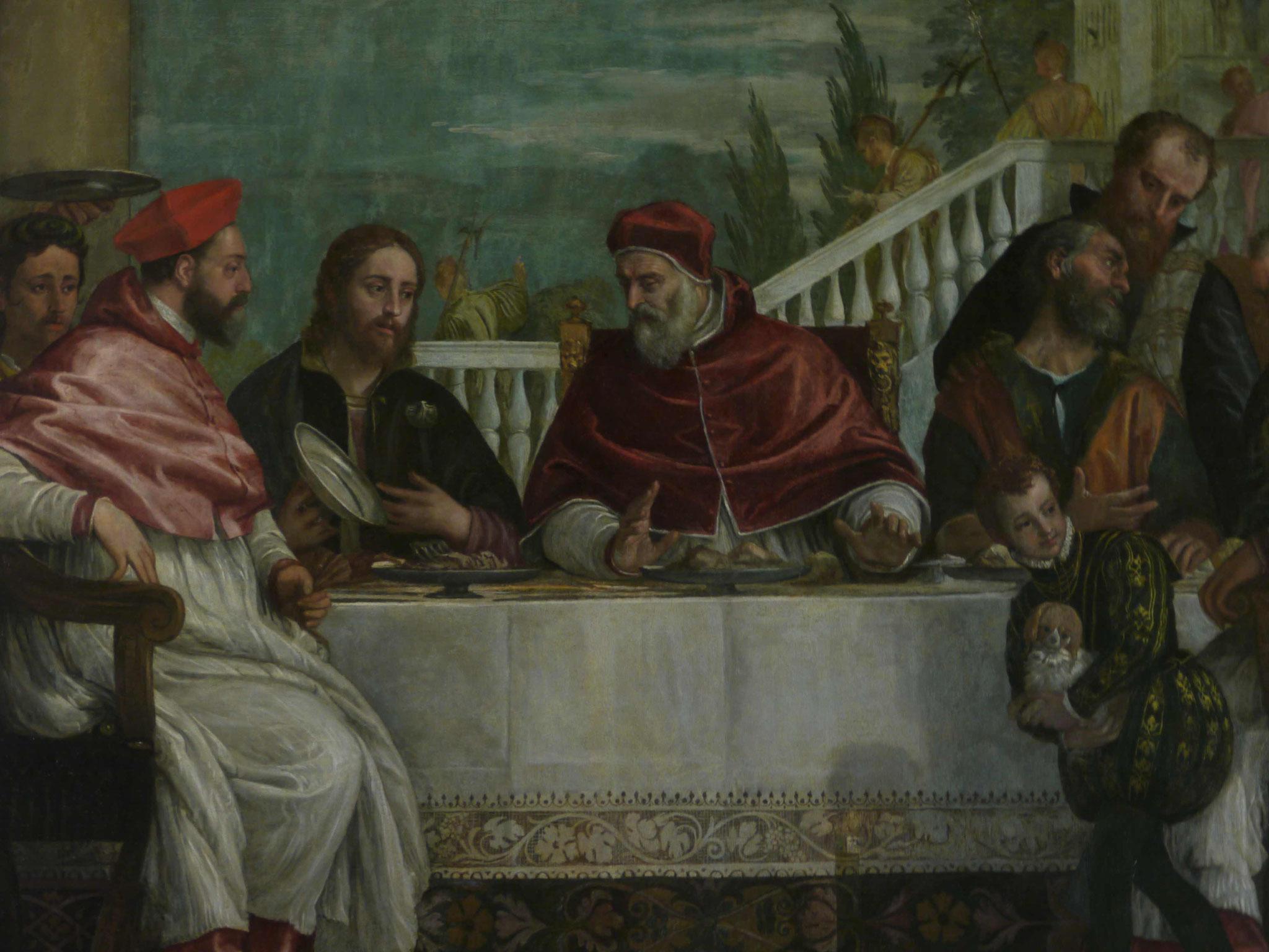 Paolo Veronese, Ausschnitt, Cena die San Gregorio, Madonna die Monte Berico, Venetien