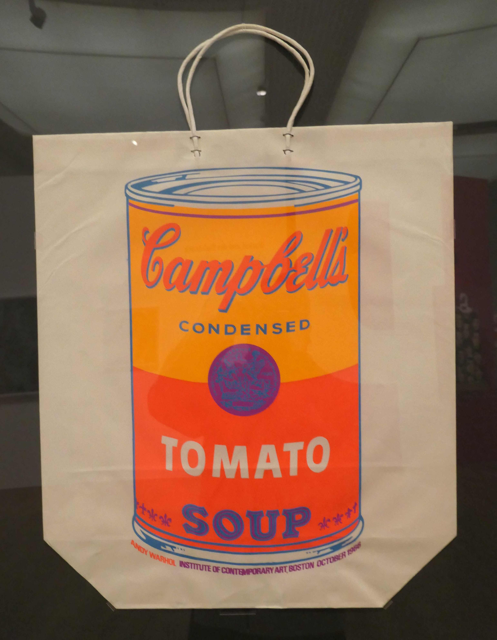 Andy Warhol, Campbell's soup can, 1966, Siebdruck, Kunstbibliothek Berlin