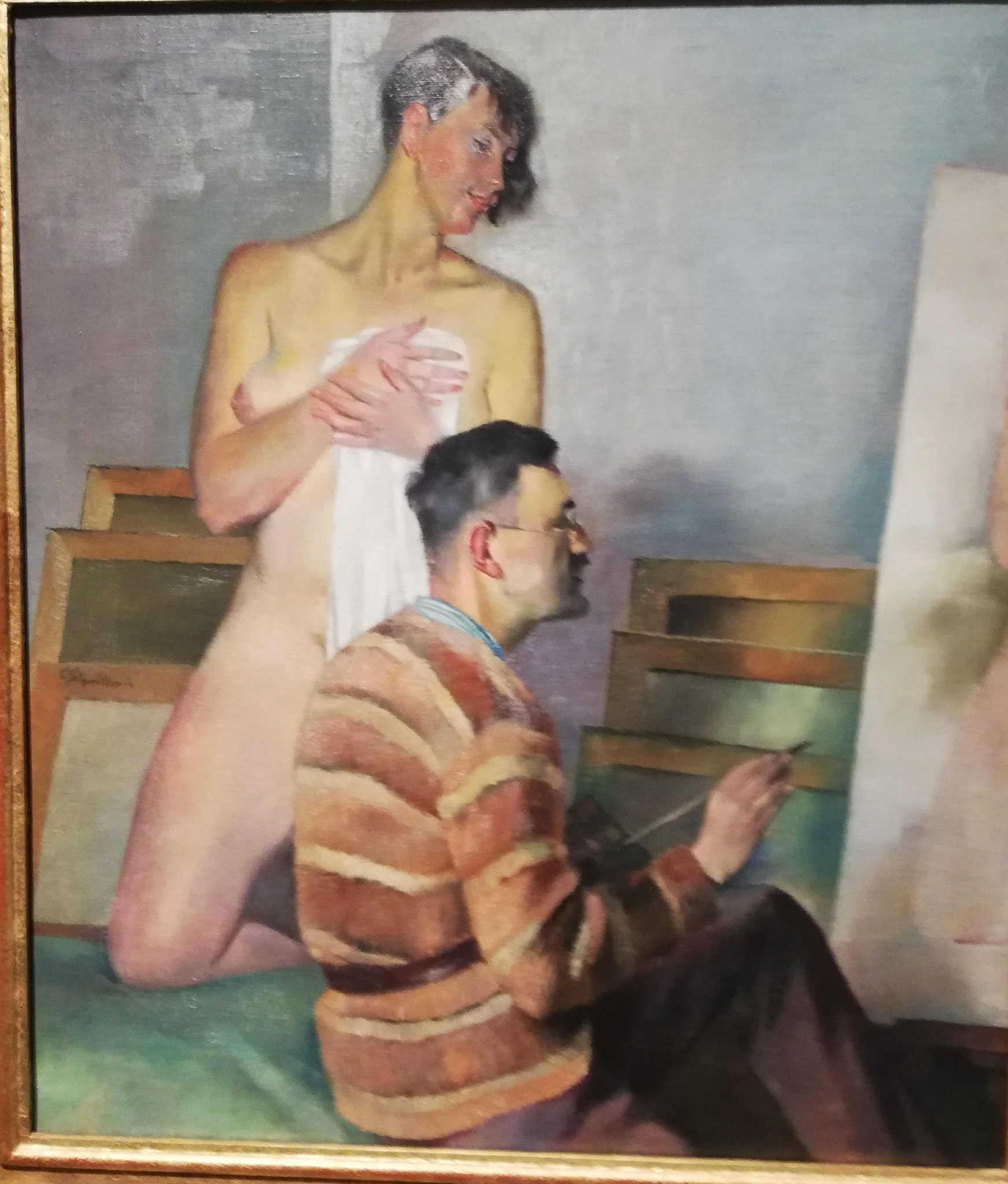 Conrad Felixmüller, Die Modellpause, 1932