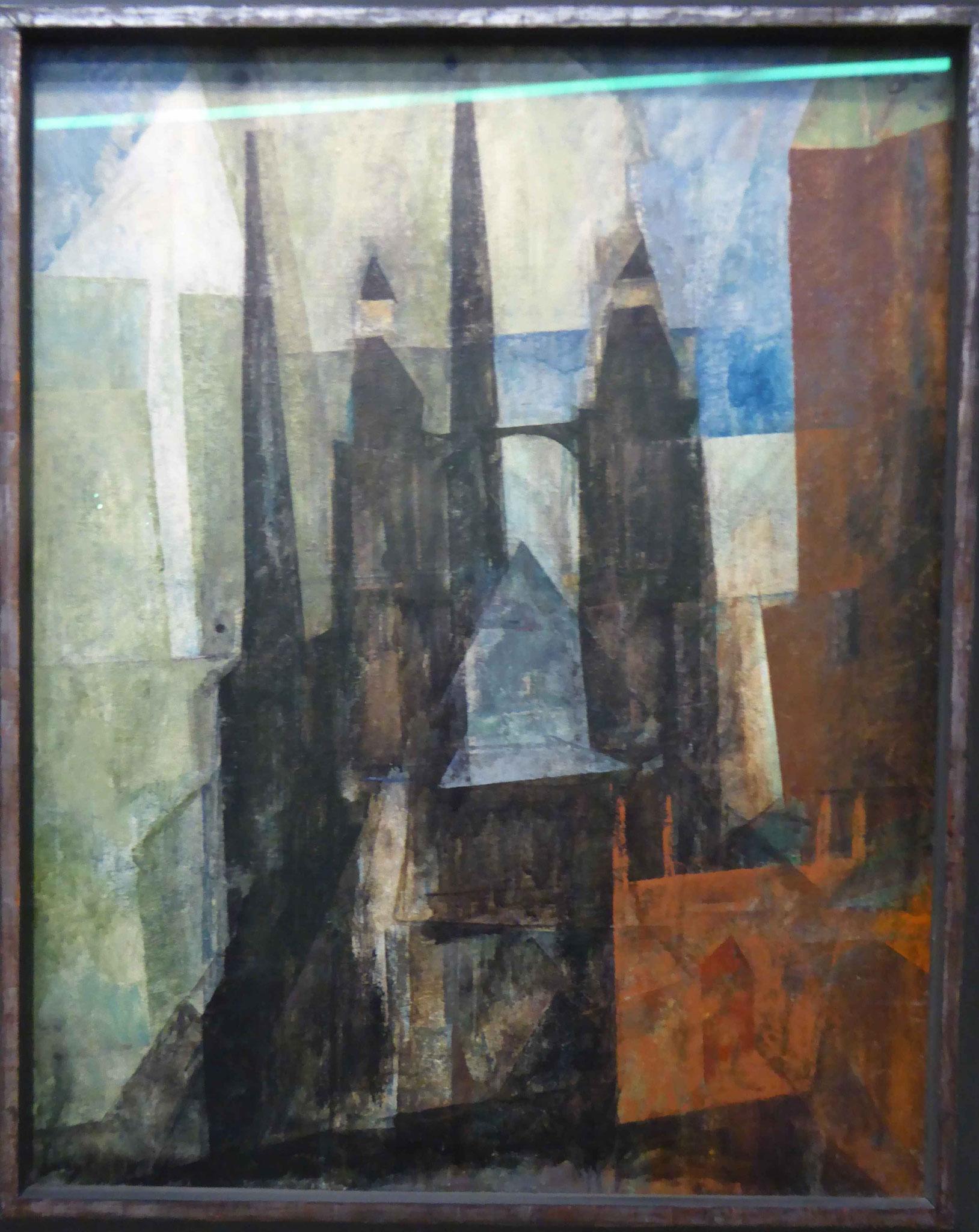 Lyonel Feininger, Marienkirche mit Pfeil, 1930,  Museum Moritzburg, Halle