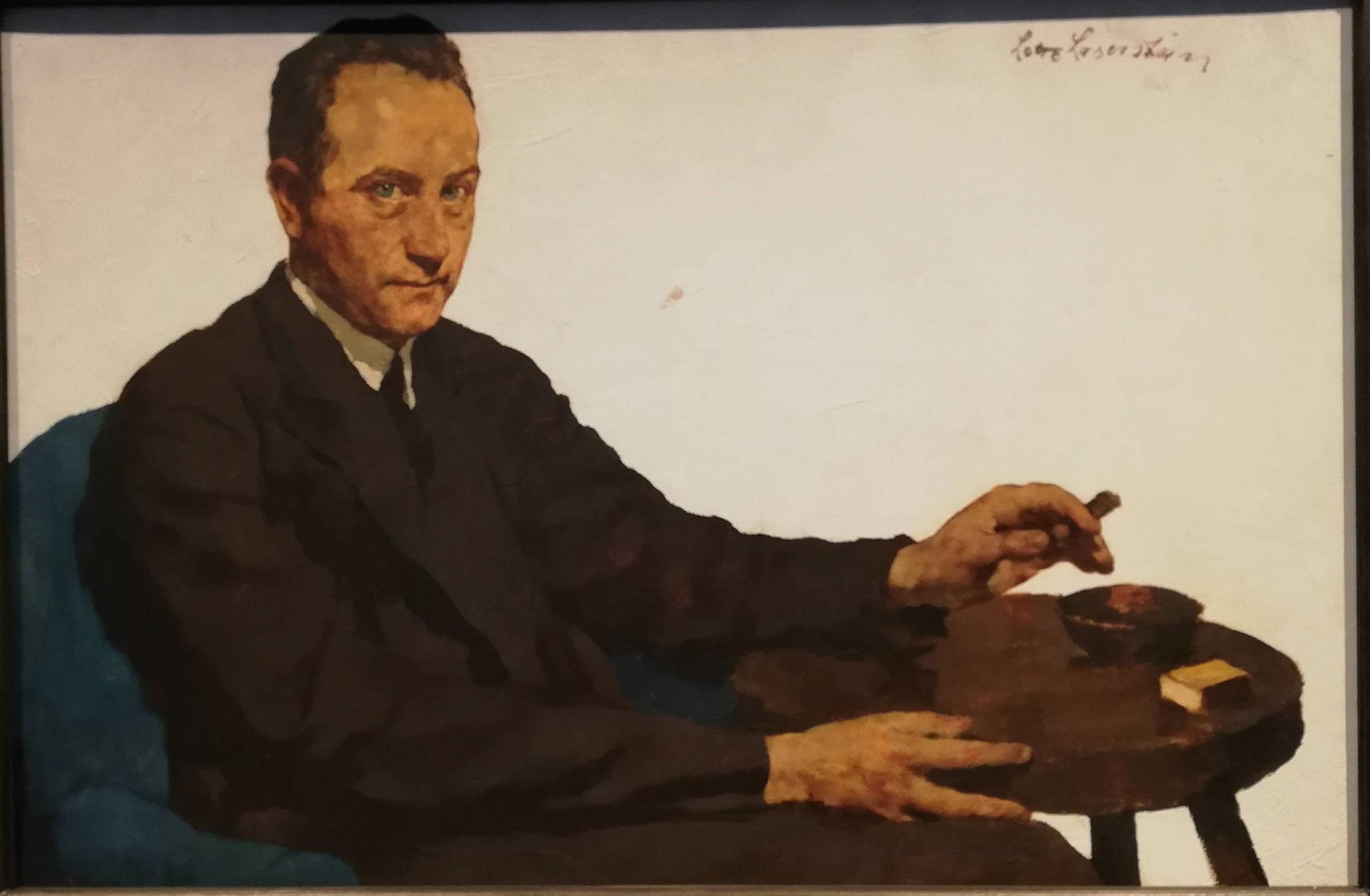 Lotte Laserstein, RFuchender Mann, 1930
