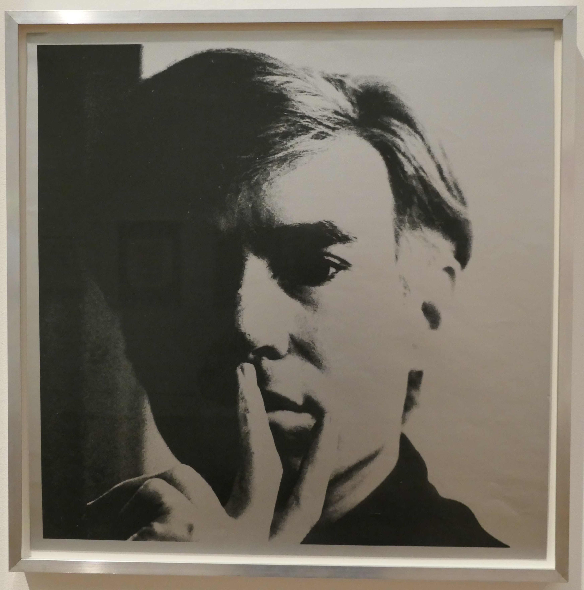 Andy Warhol, Selbstbildnis, 1966, Siebdruck, Kunsthandel Berlin