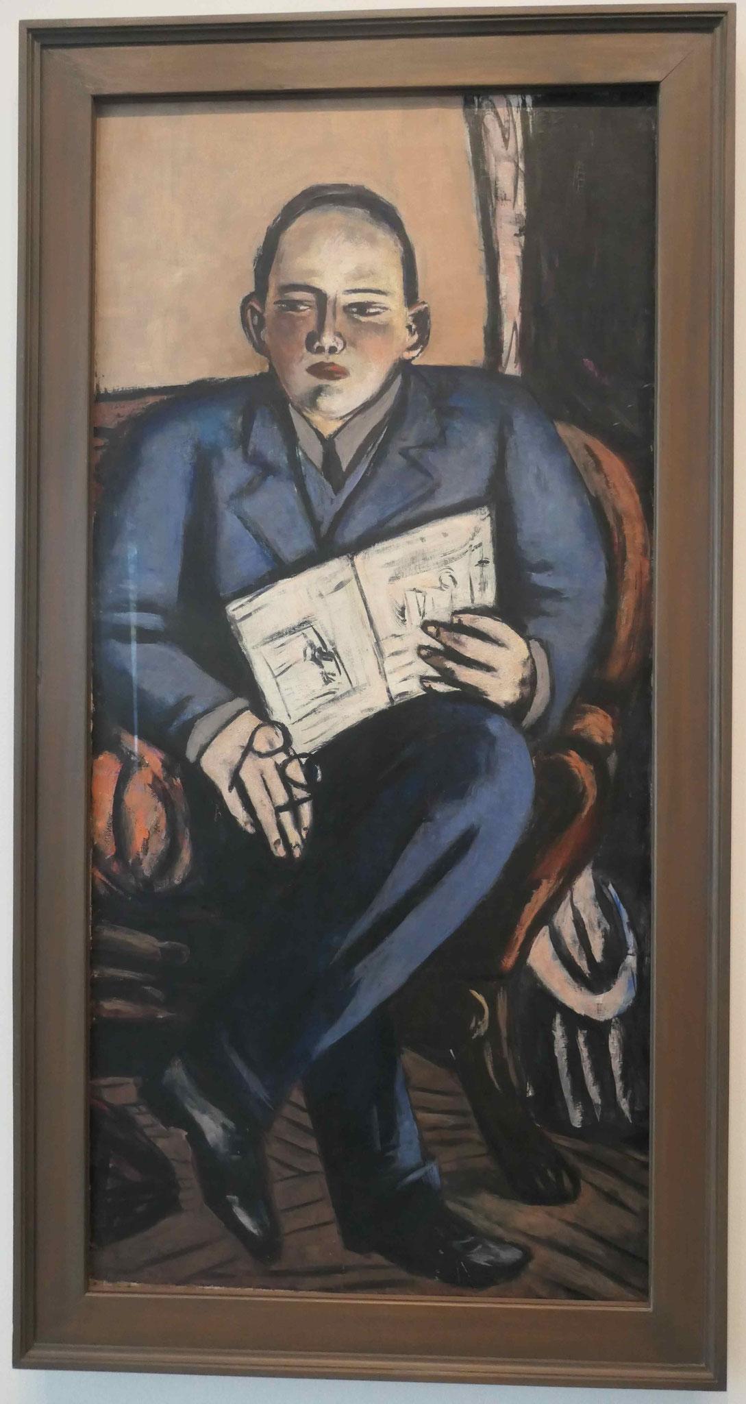 Max Beckmann, Bildnis Erhard Göpel, 1944, Neue Nationalgalerie Berlin