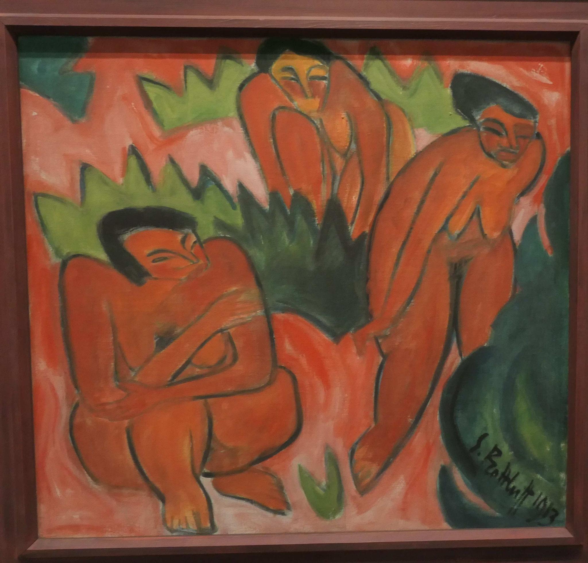 Karl Schmidt-Rotluff, Drei Akte (Dünenbild aus Nidden), 1913, Neue Nationalgalerie Berlin