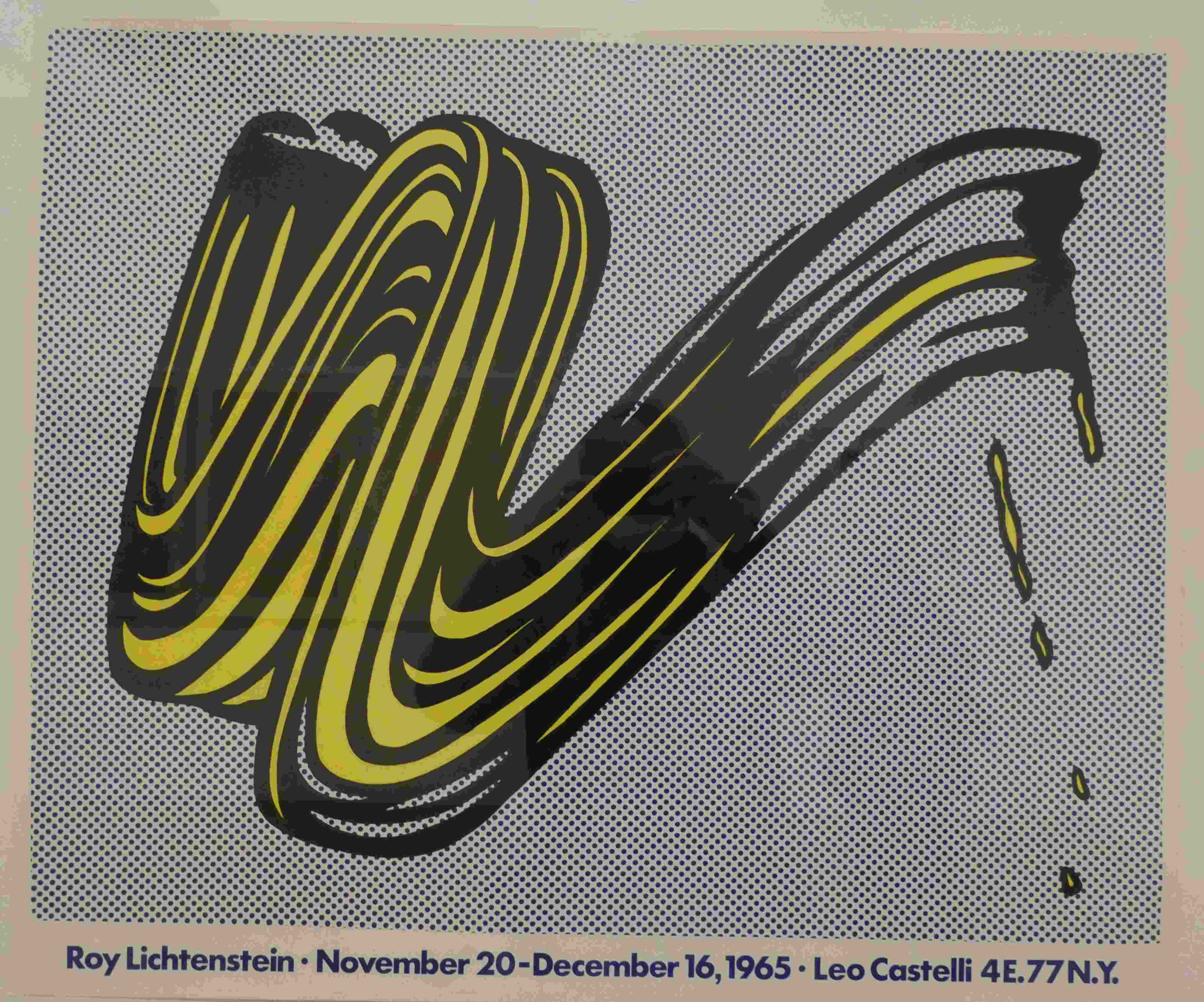 Roy Lichtenstein, Brushstroke, 1965, Siebdruck, Nationalgalerie Berlin