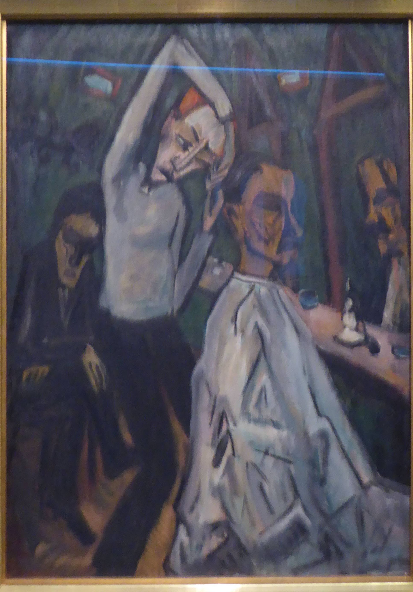 Erich Heckel, Barbierstube, 1912,  Museum Moritzburg, Halle
