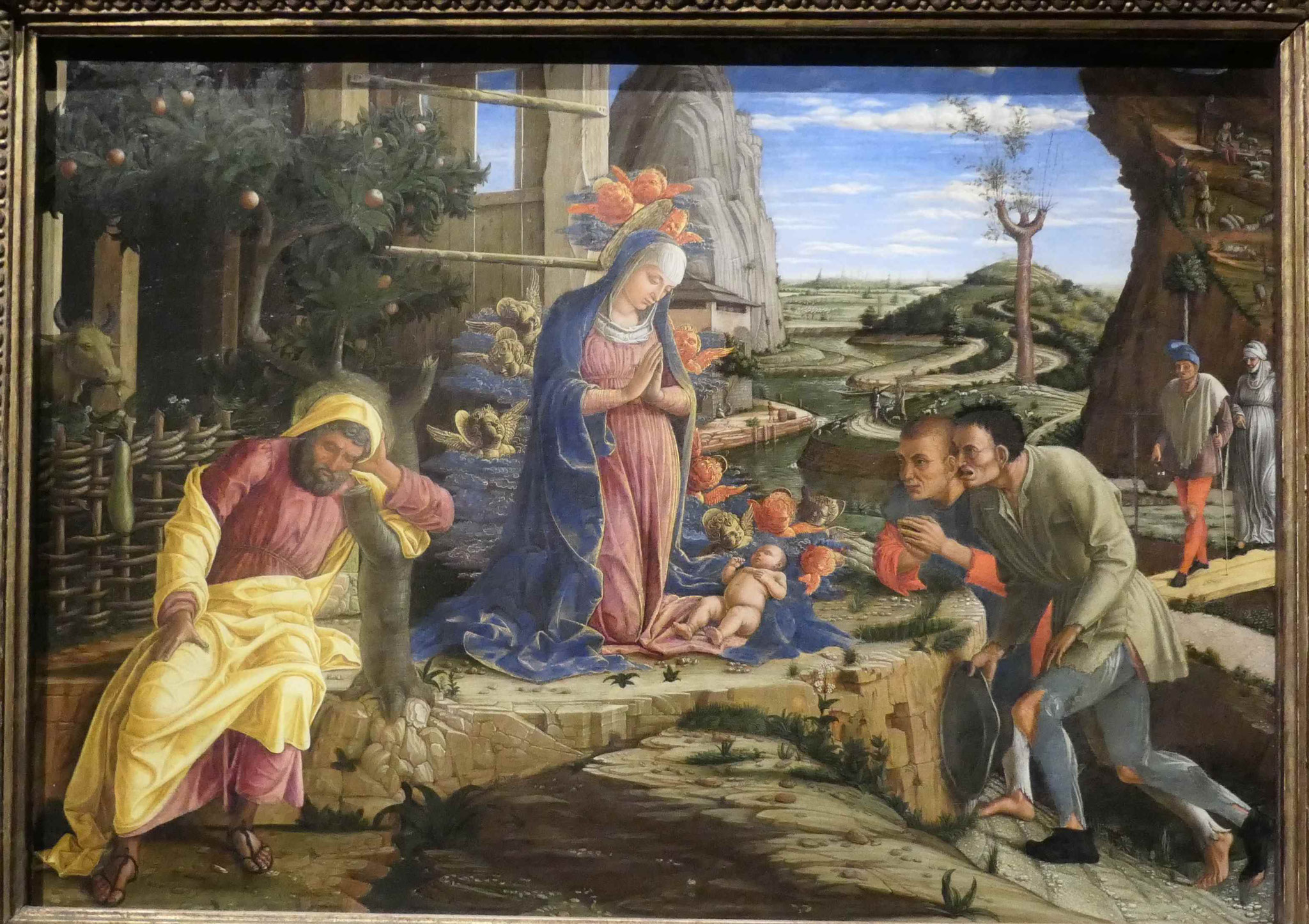 Andrea Mantegna, Die Anbetung der Hirten, um 1450/52, MoMa