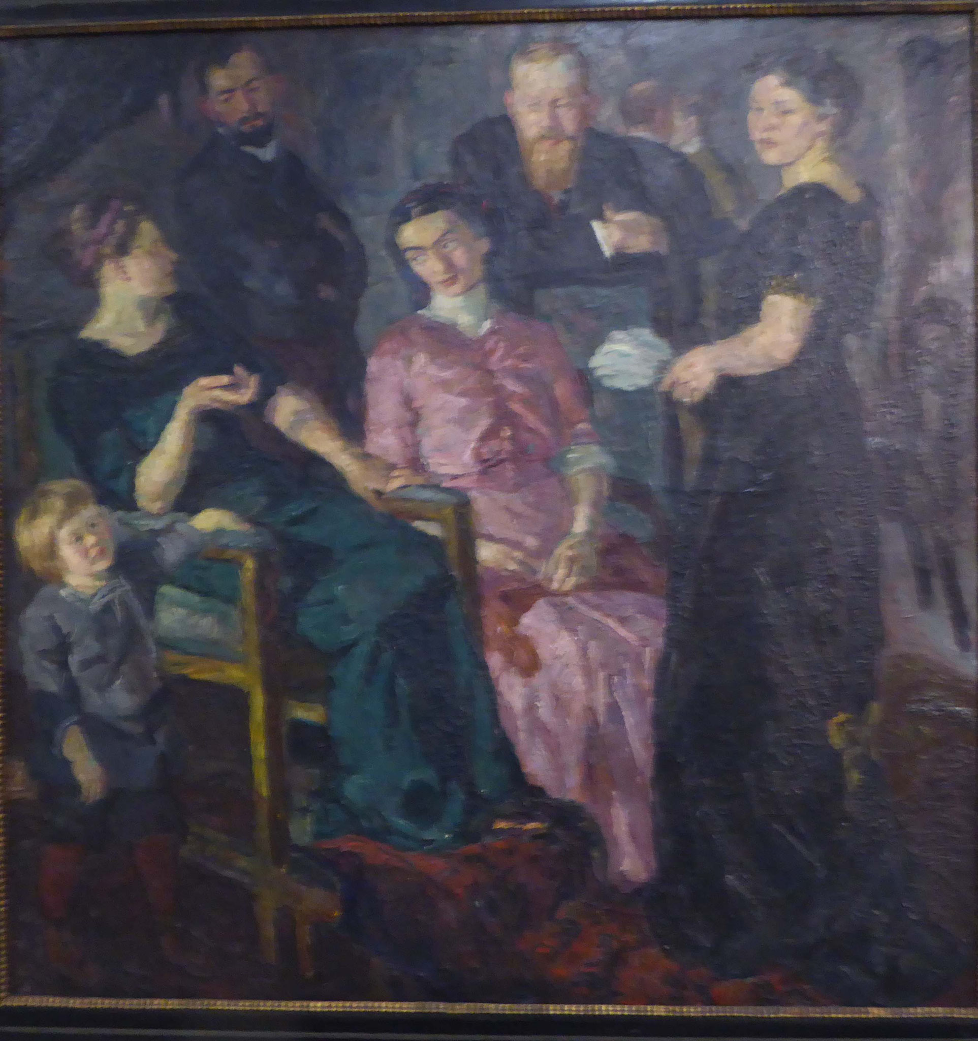 Max Beckmann, Gesellschaft II, 1911,  Museum Moritzburg, Halle