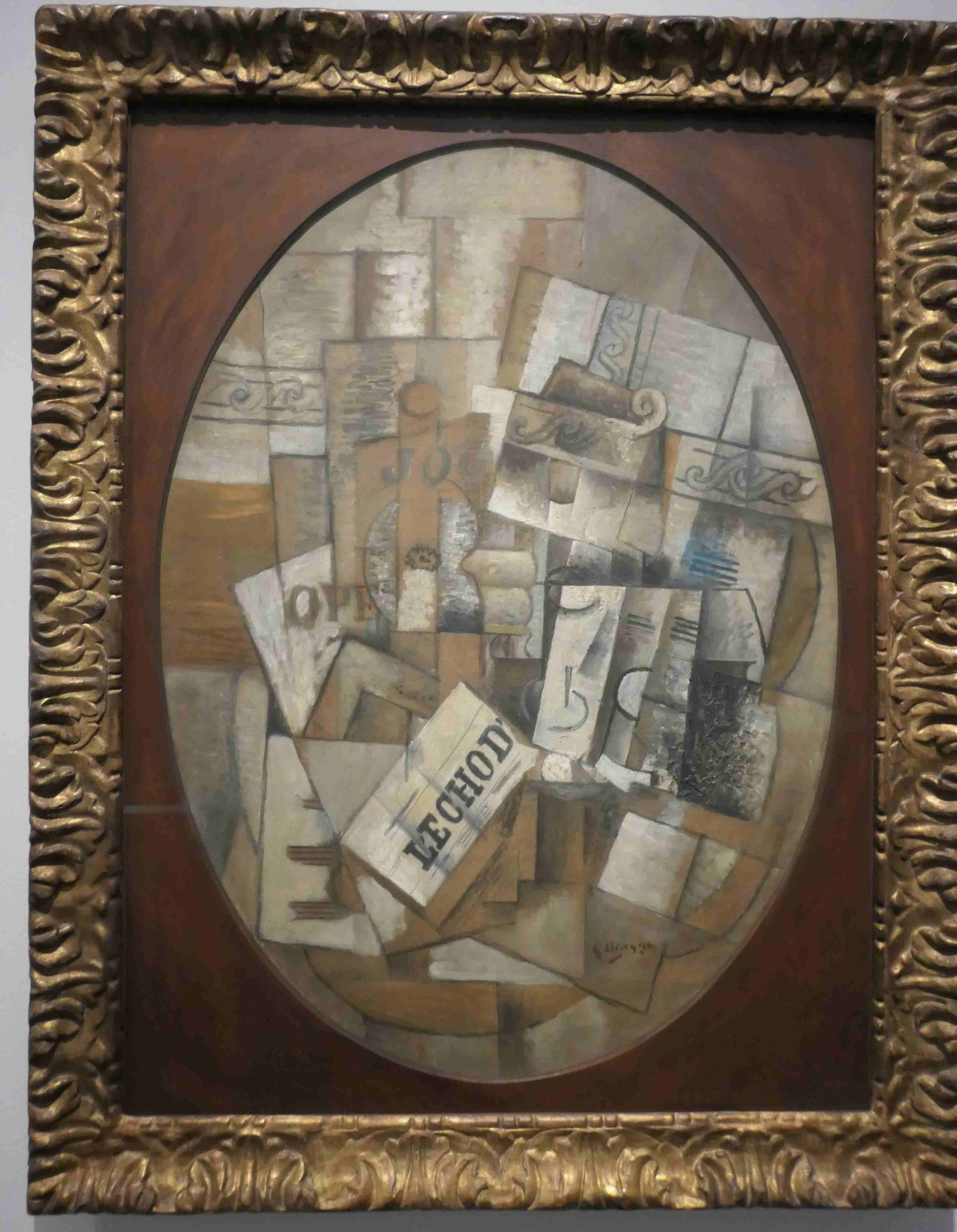 George Braque, Stilleben mit Glas und Zeitung, 1914, Neue Nationalgalerie Berlin