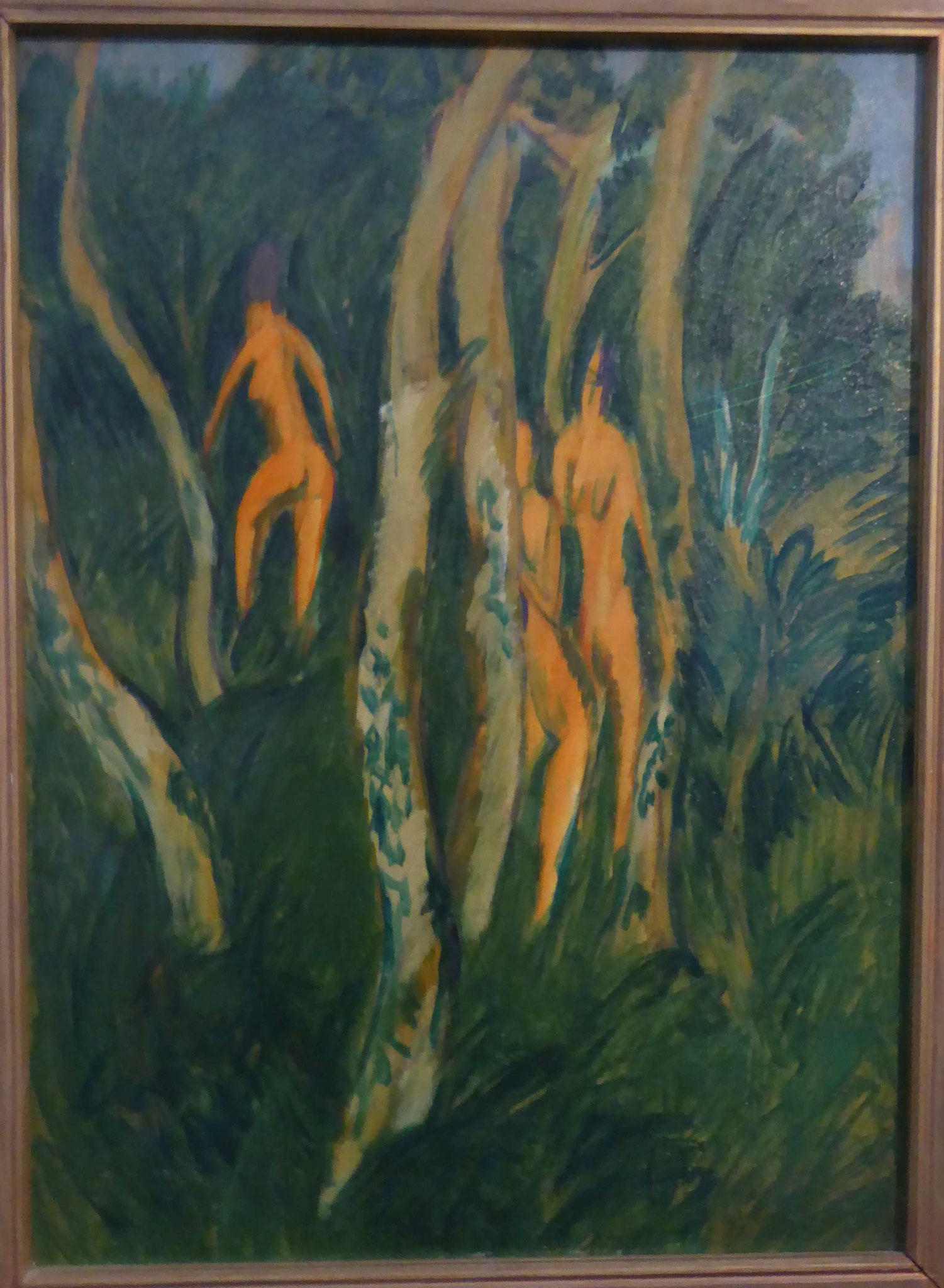 Ernst-Ludwig Kirchner, Akte im Strandwald, 1913,  Museum Moritzburg, Halle