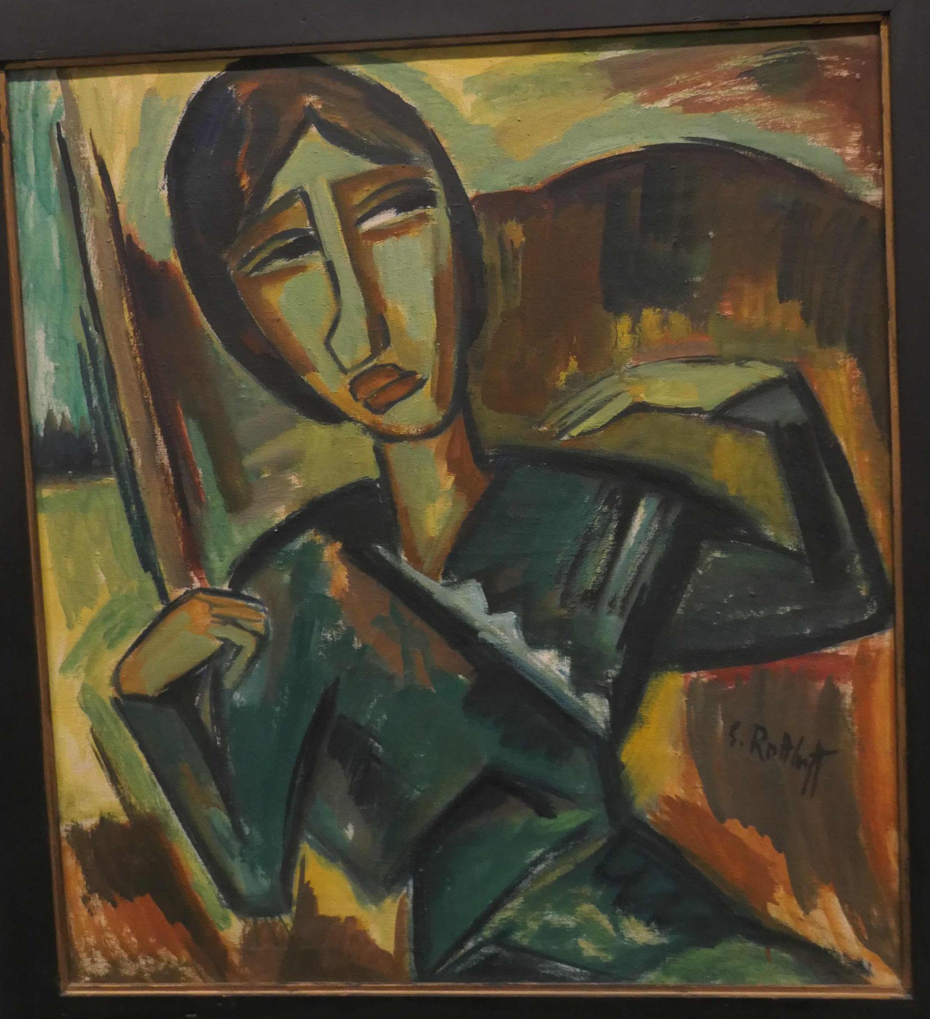Karl Schmidt-Rotluff, Grünes Mädchen, 1915, Neue Nationalgalerie Berlin