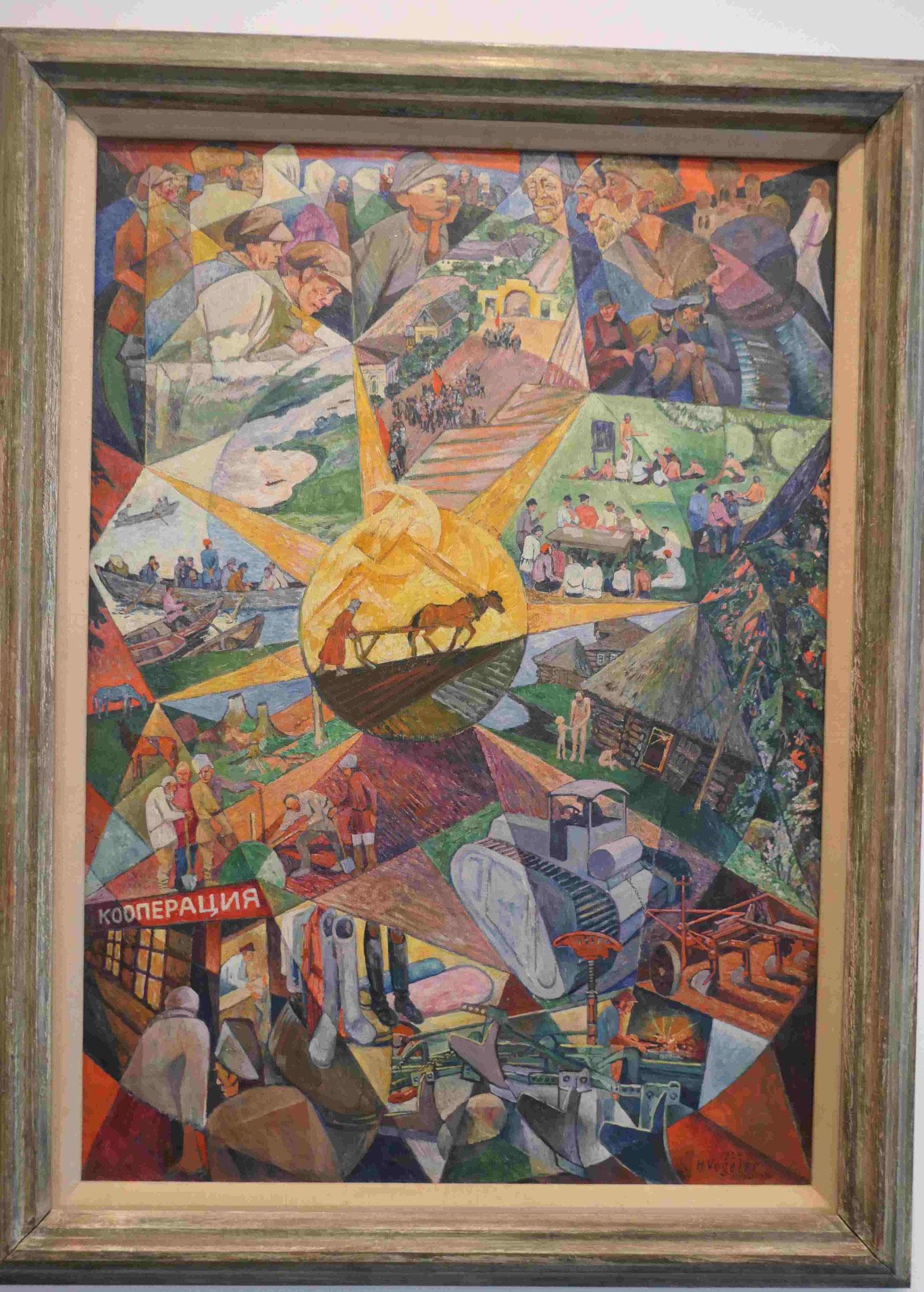 Heinrich Vogeler, Kulturarbeit der Studenten im Sommer, 1924, Nationalgalerie Berlin