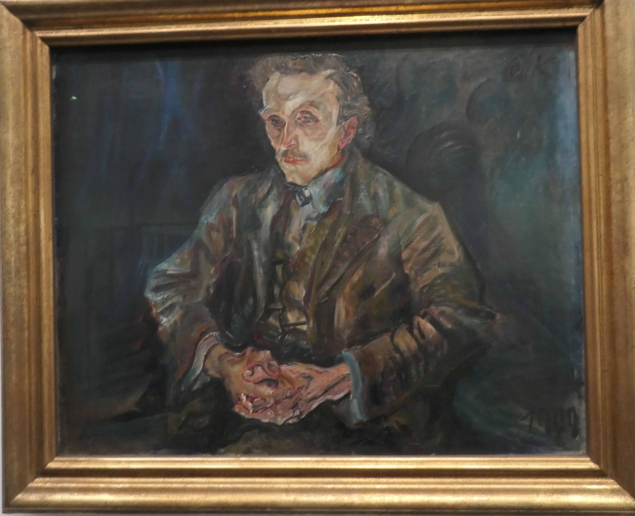 Oskar Kokoschka, Der Wiener Baumeister Adolf Loos, 1909, Neue Nationalgalerie Berlin