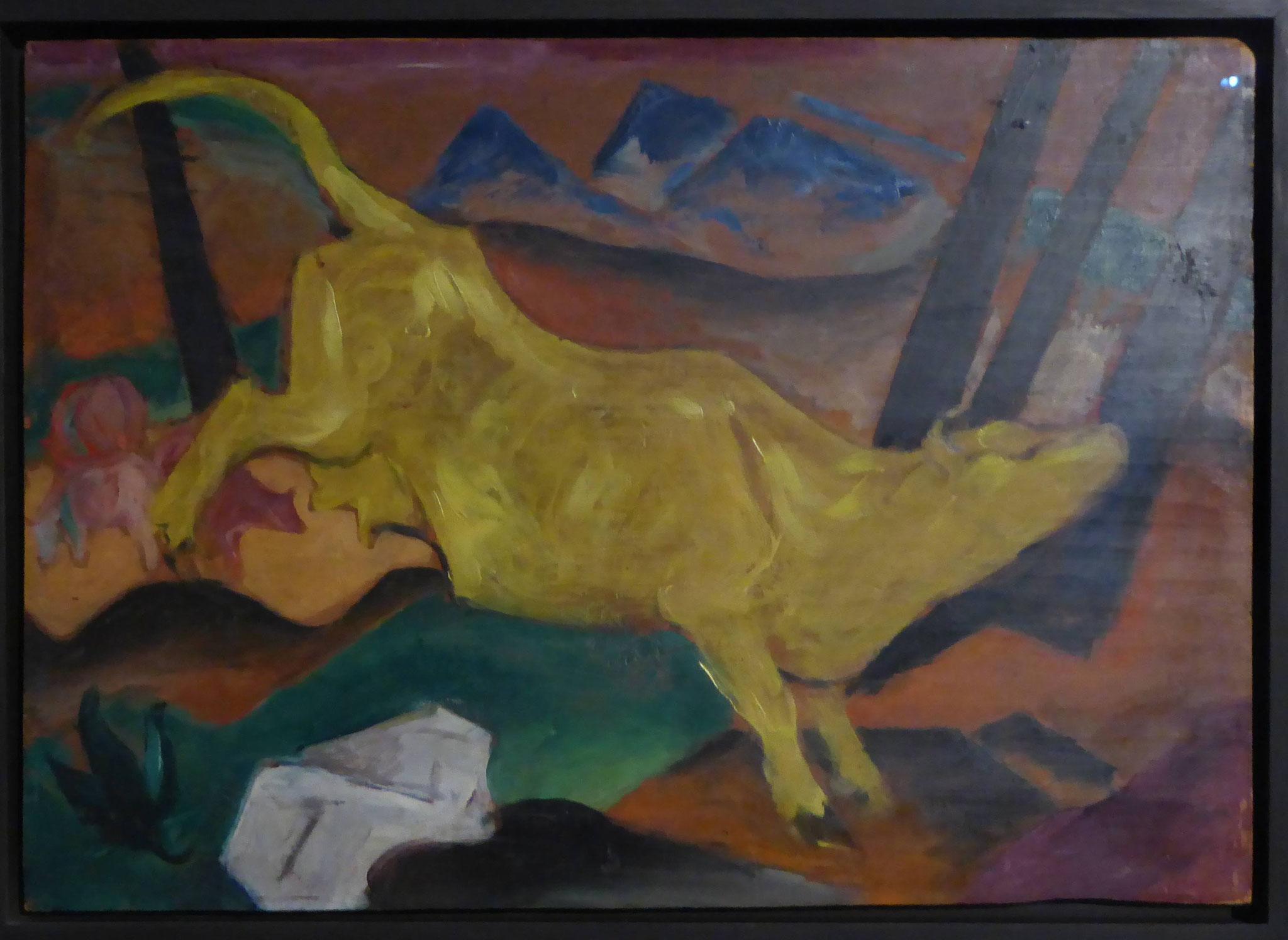 Franz Marc, Die gelbe Kuh, 1911, Museum Moritzburg, Halle