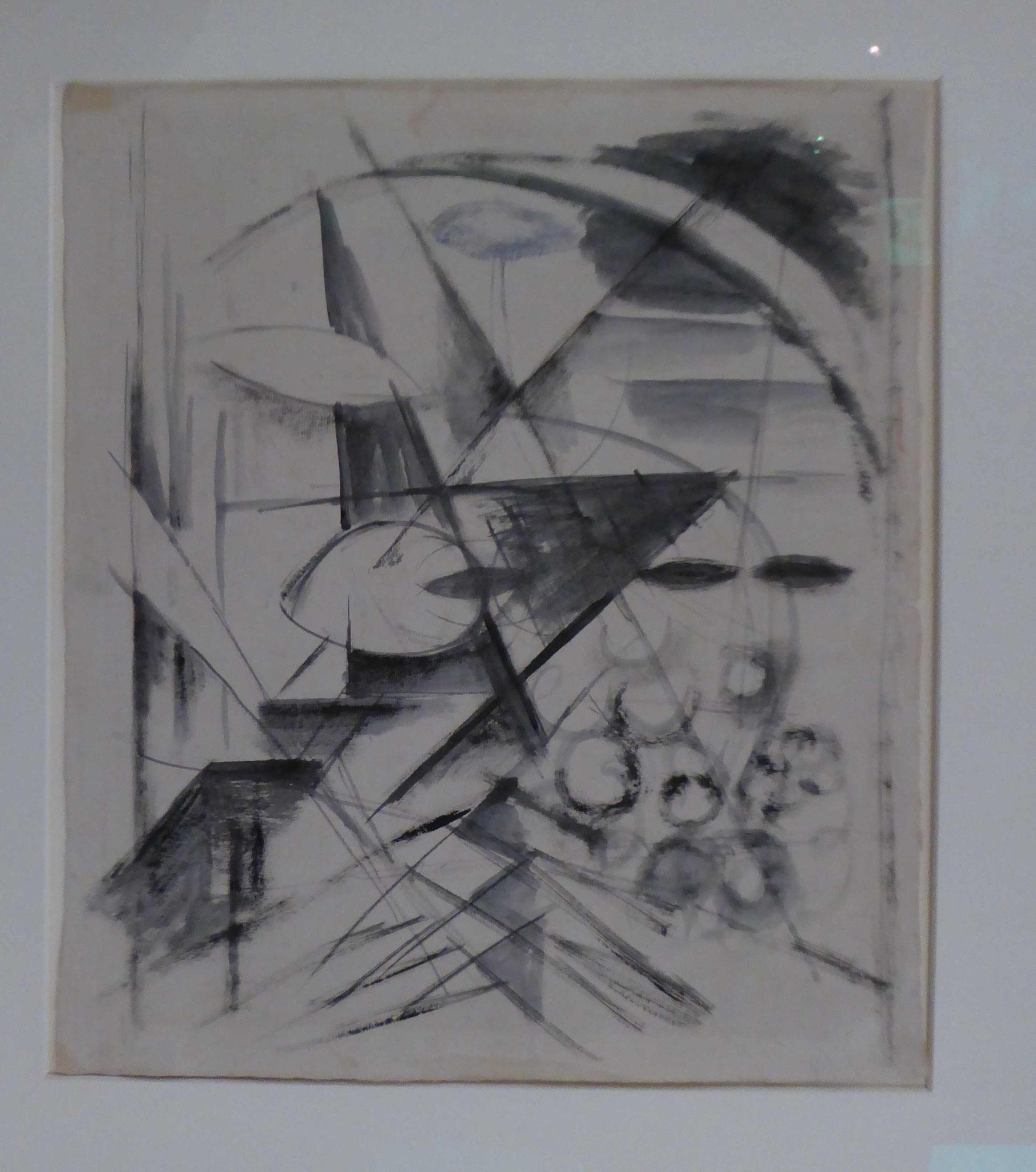 Franz M arc, Abstrakte Zeichnung, 1913/14, Museum Moritzburg, Halle