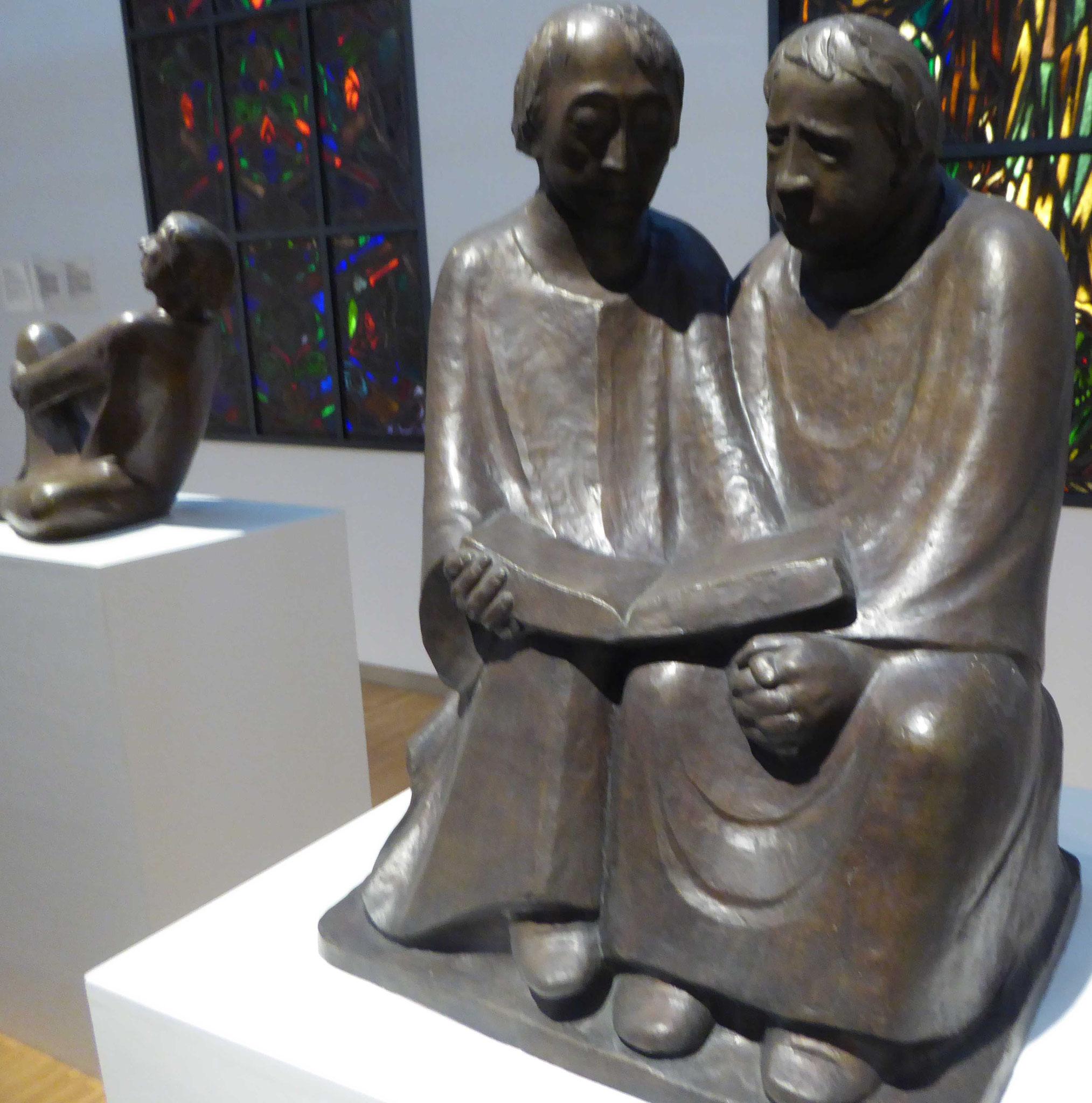 Ernst Barlach, Lesende Mönche, Museum Moritzburg, Halle
