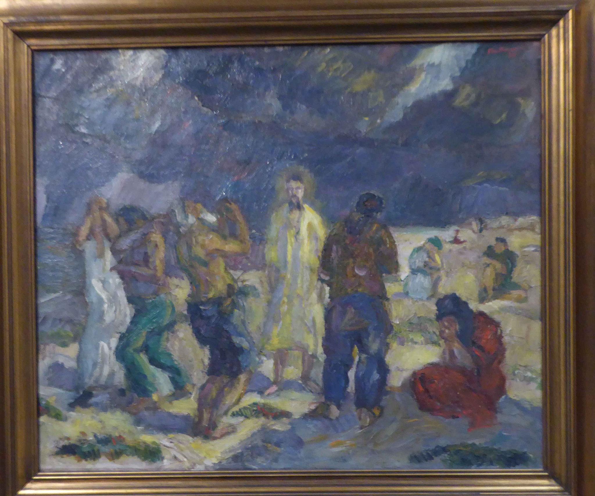 M ax Beckmann, Christus in der Wüste, 1910,  Museum Moritzburg, Halle