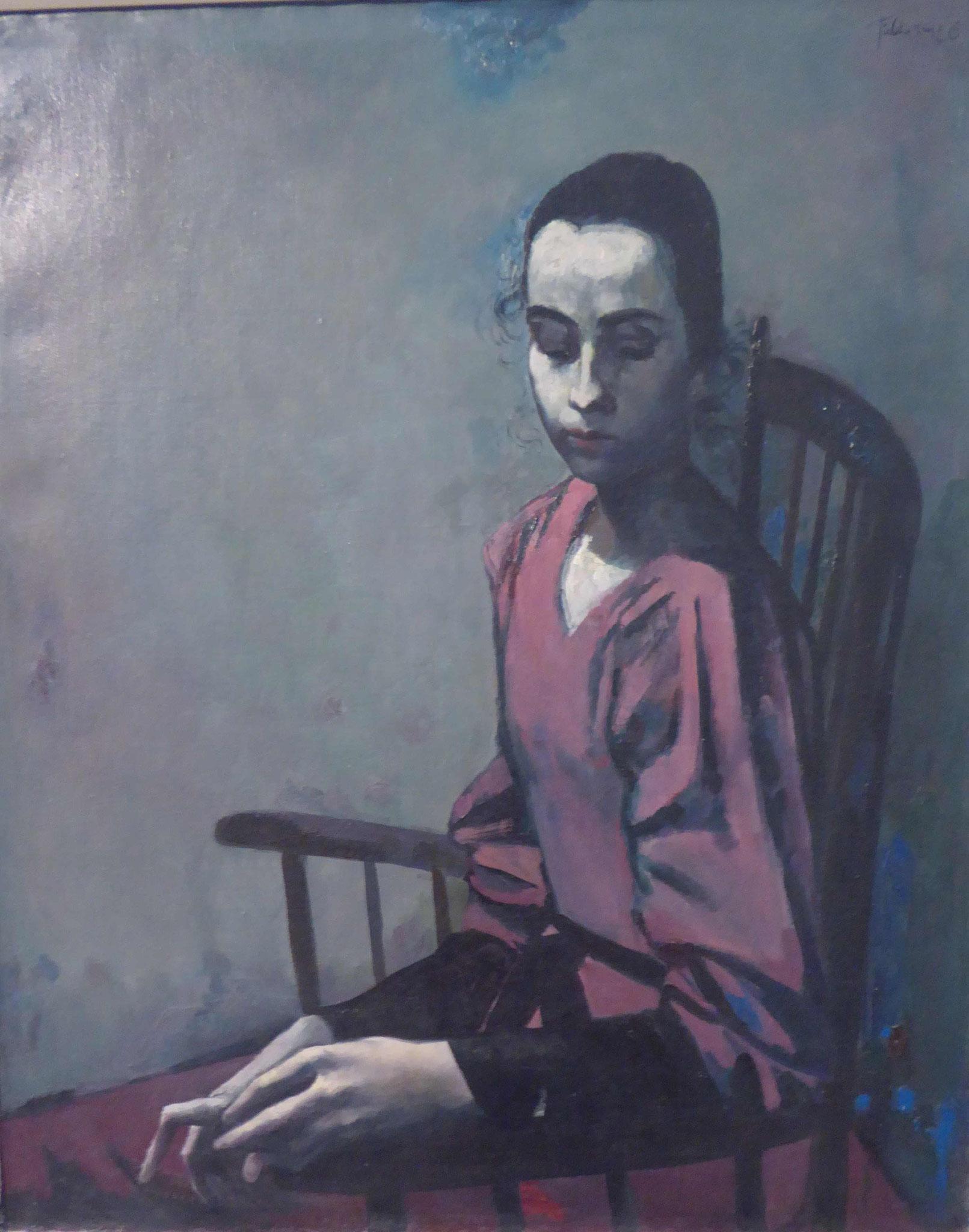 Werner Tübke, Portrait einer Studentin,  1956, Museum Moritzburg, Halle