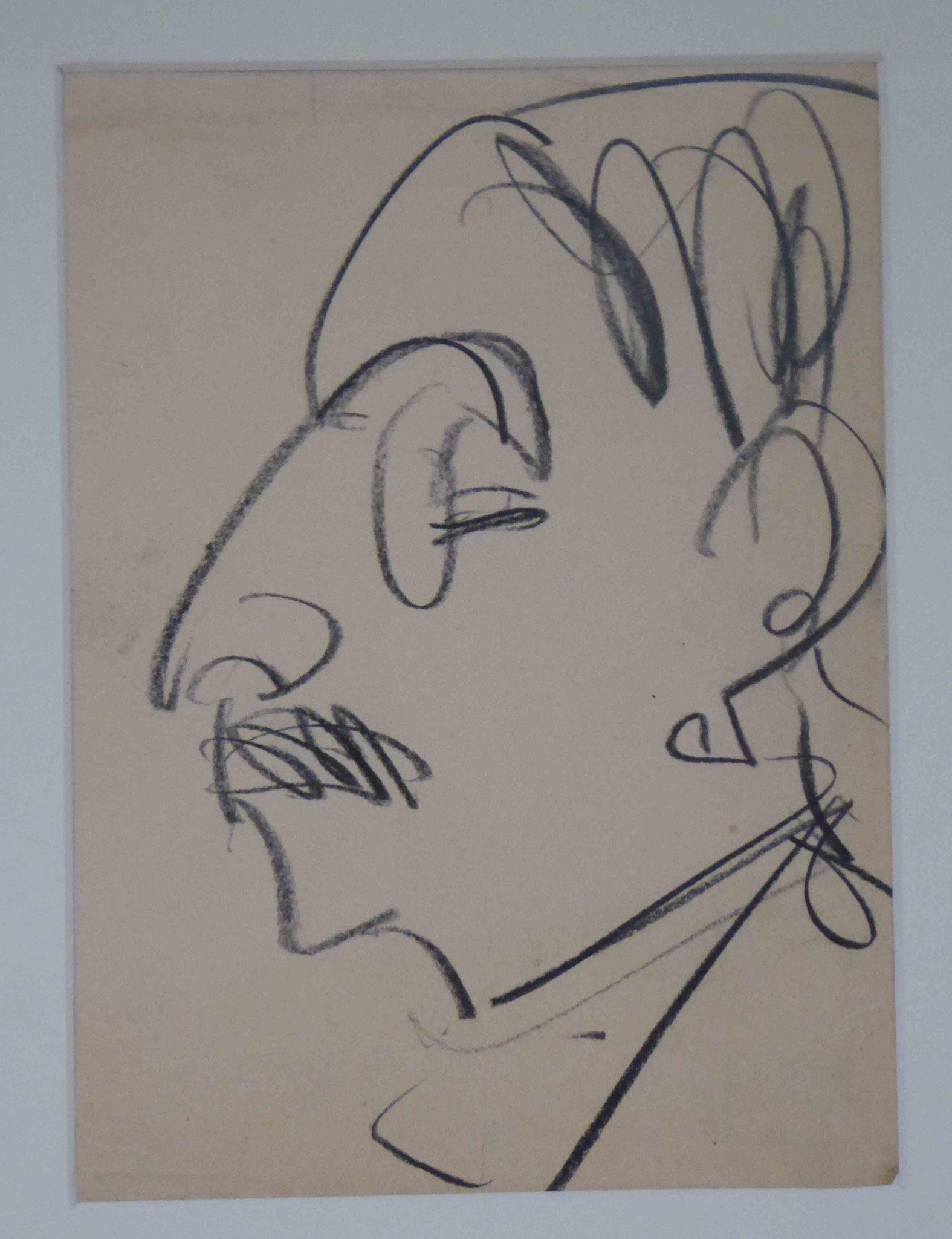Porträt Liebermann, Ernst Ludwig Kirchner, Neue Nationalgalerie Berlin