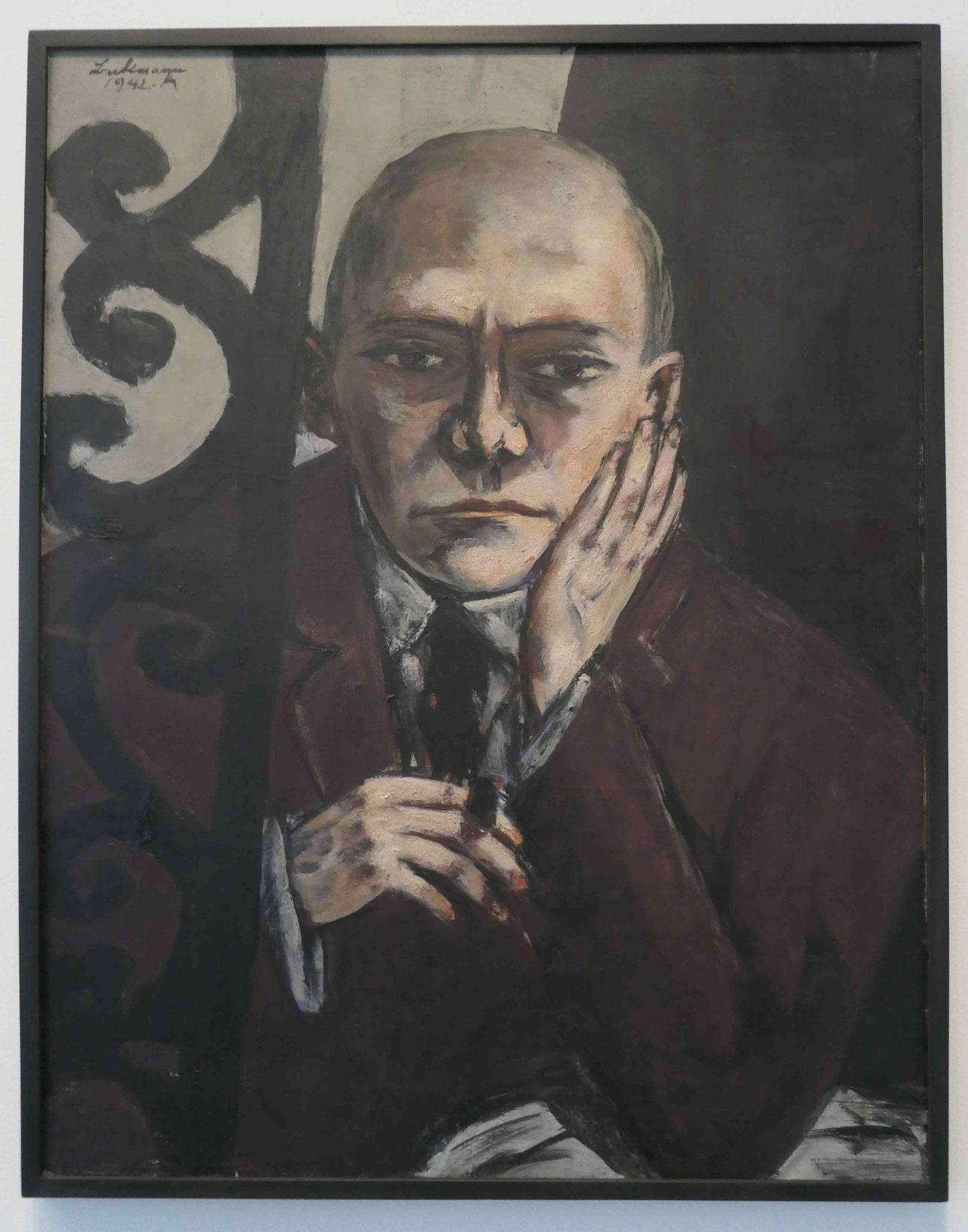Max Beckmann, Selbstbildnis in der Bar, 1942, Neue Nationalgalerie Berlin