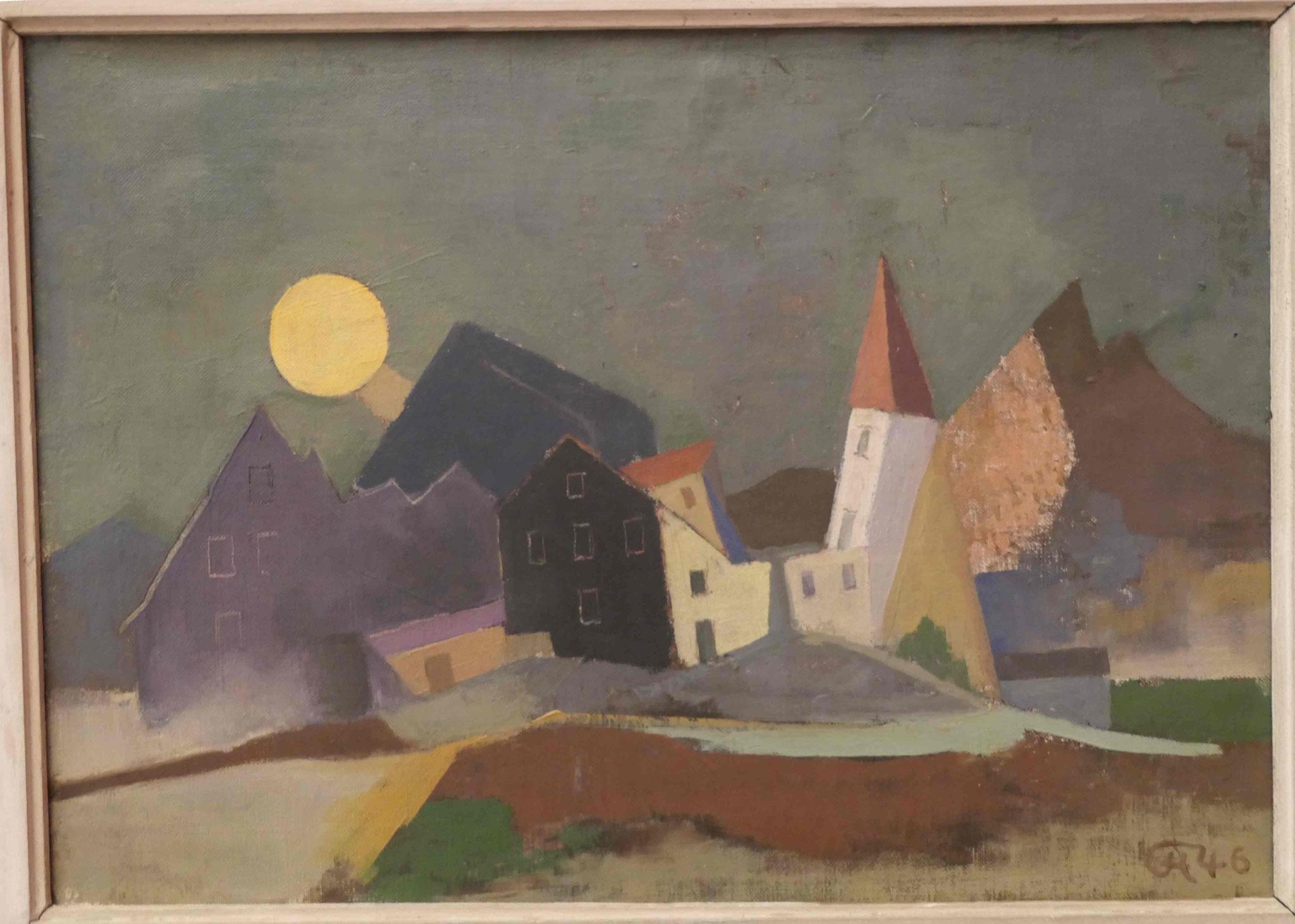 Karl Hofer, Mond über Gebirgsdorf, 1946, Kunsthalle zu Kiel